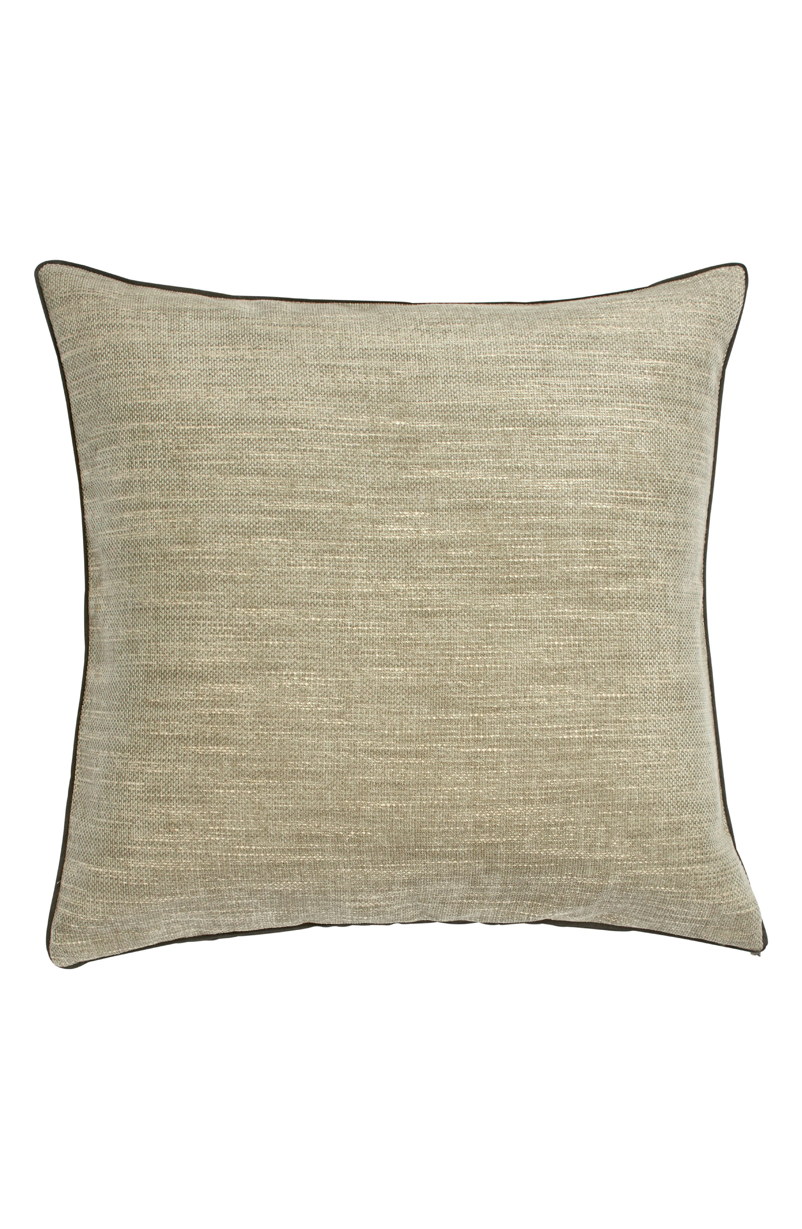 Lotus Accent Pillow,                             Main thumbnail 1, color,                             TAUPE