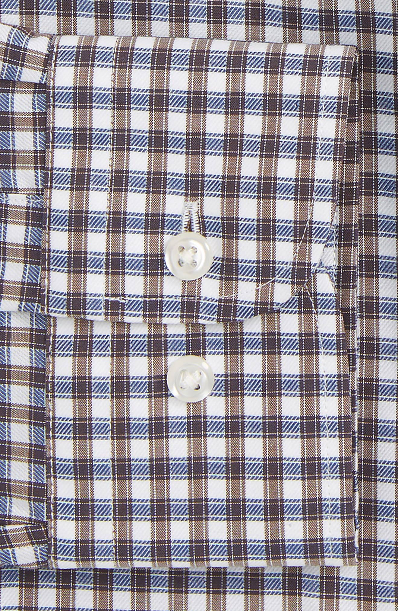 Trim Fit Non-Iron Check Dress Shirt,                             Alternate thumbnail 15, color,