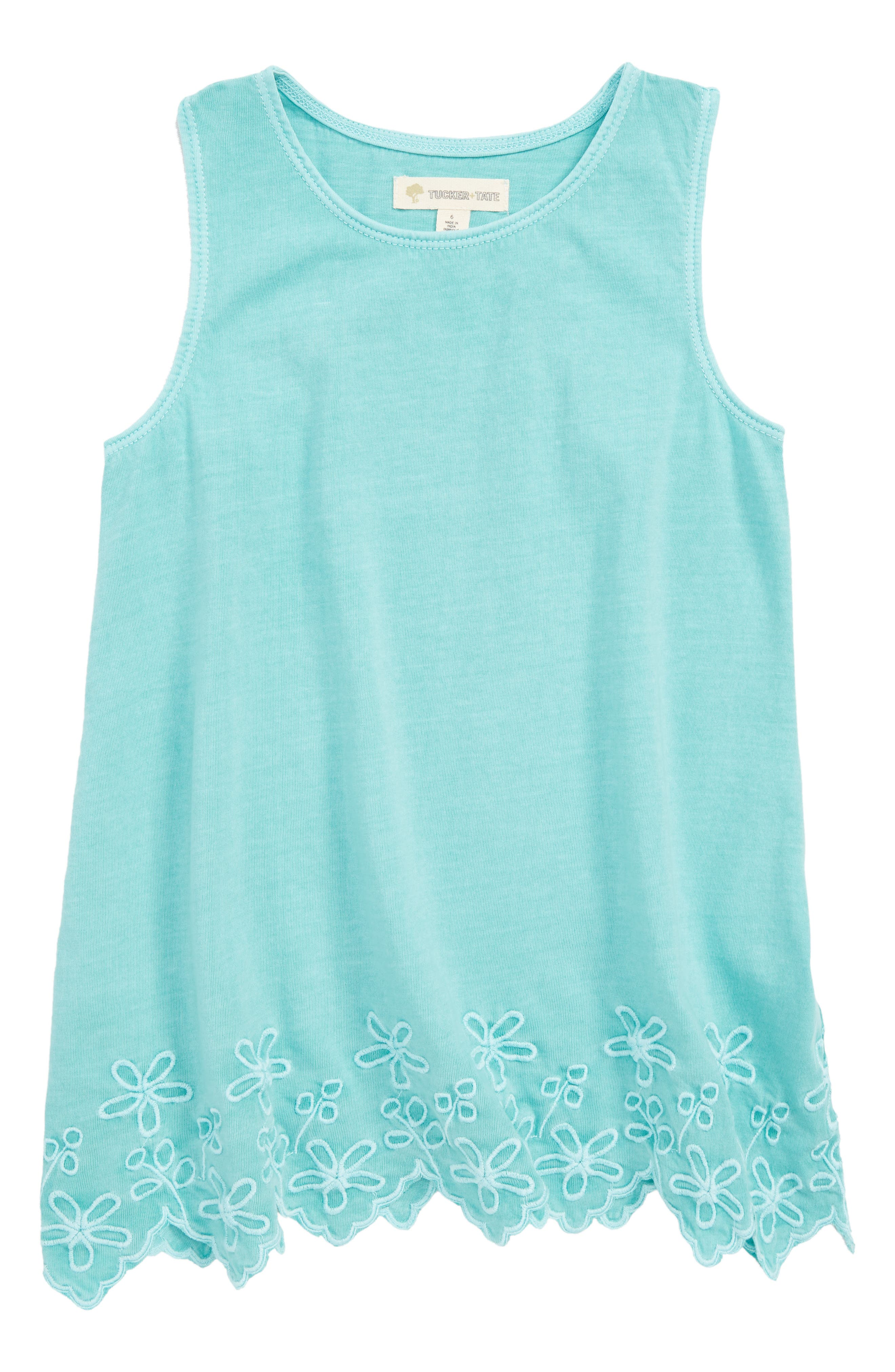 Easy Embroidered Tunic Tank,                             Main thumbnail 1, color,                             445