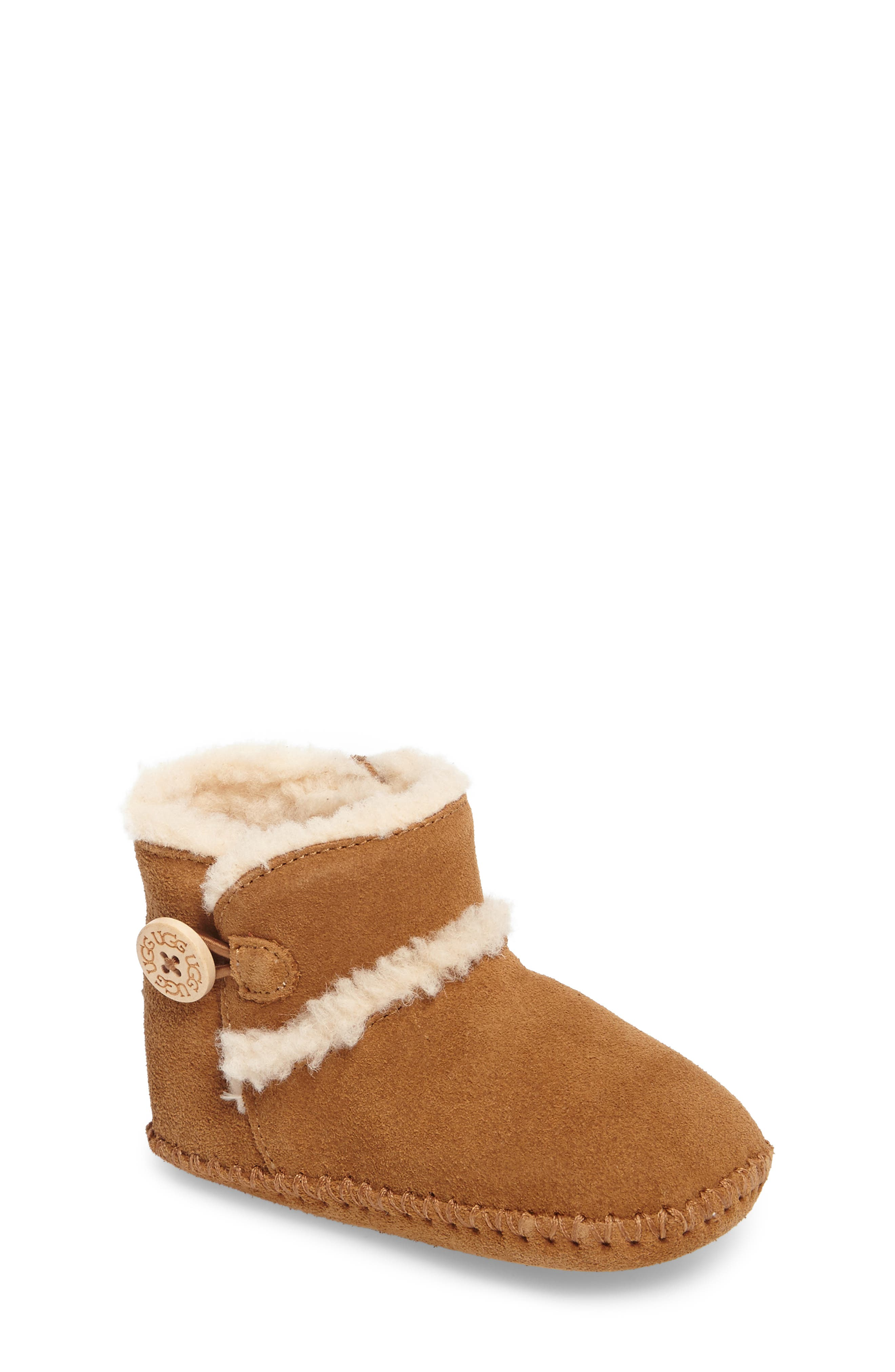 UGG<SUP>®</SUP>,                             Lemmy II Button Bootie,                             Main thumbnail 1, color,                             CHESTNUT