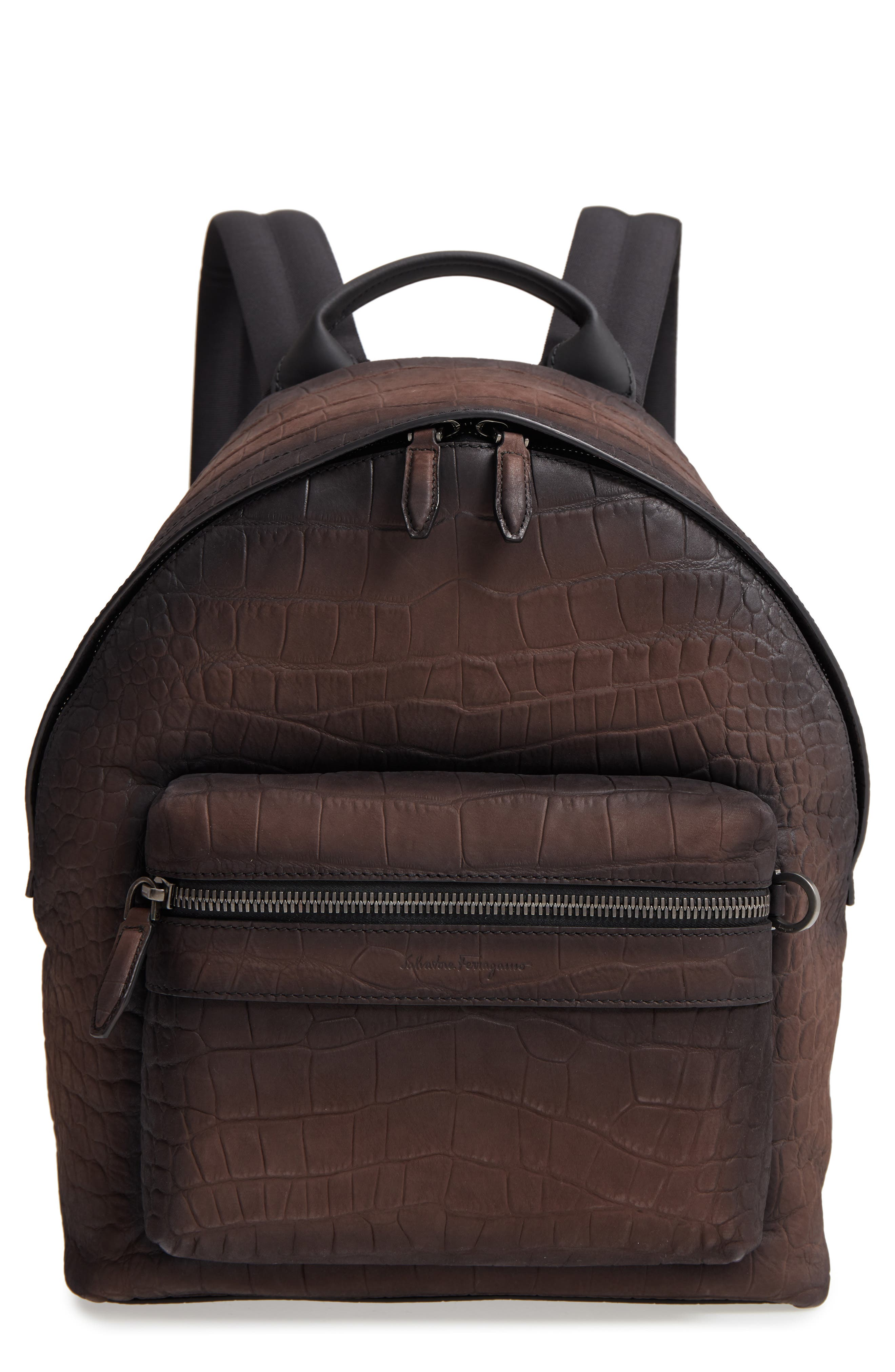 Firenze Leather Backpack,                         Main,                         color, MORO