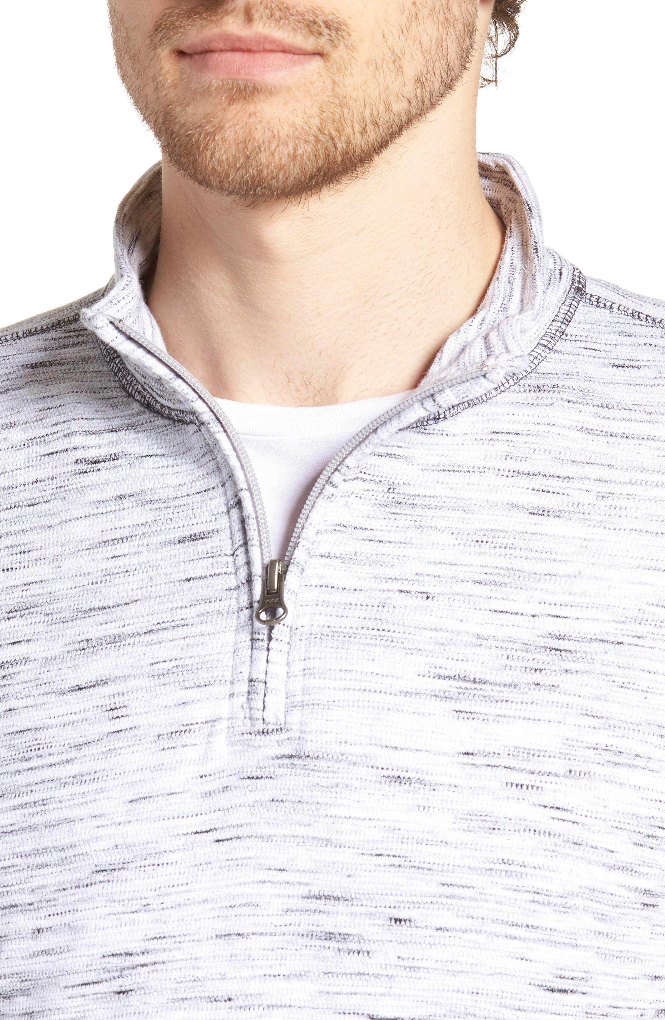 Regular Fit Jacquard Quarter Zip Shirt,                             Alternate thumbnail 4, color,                             270
