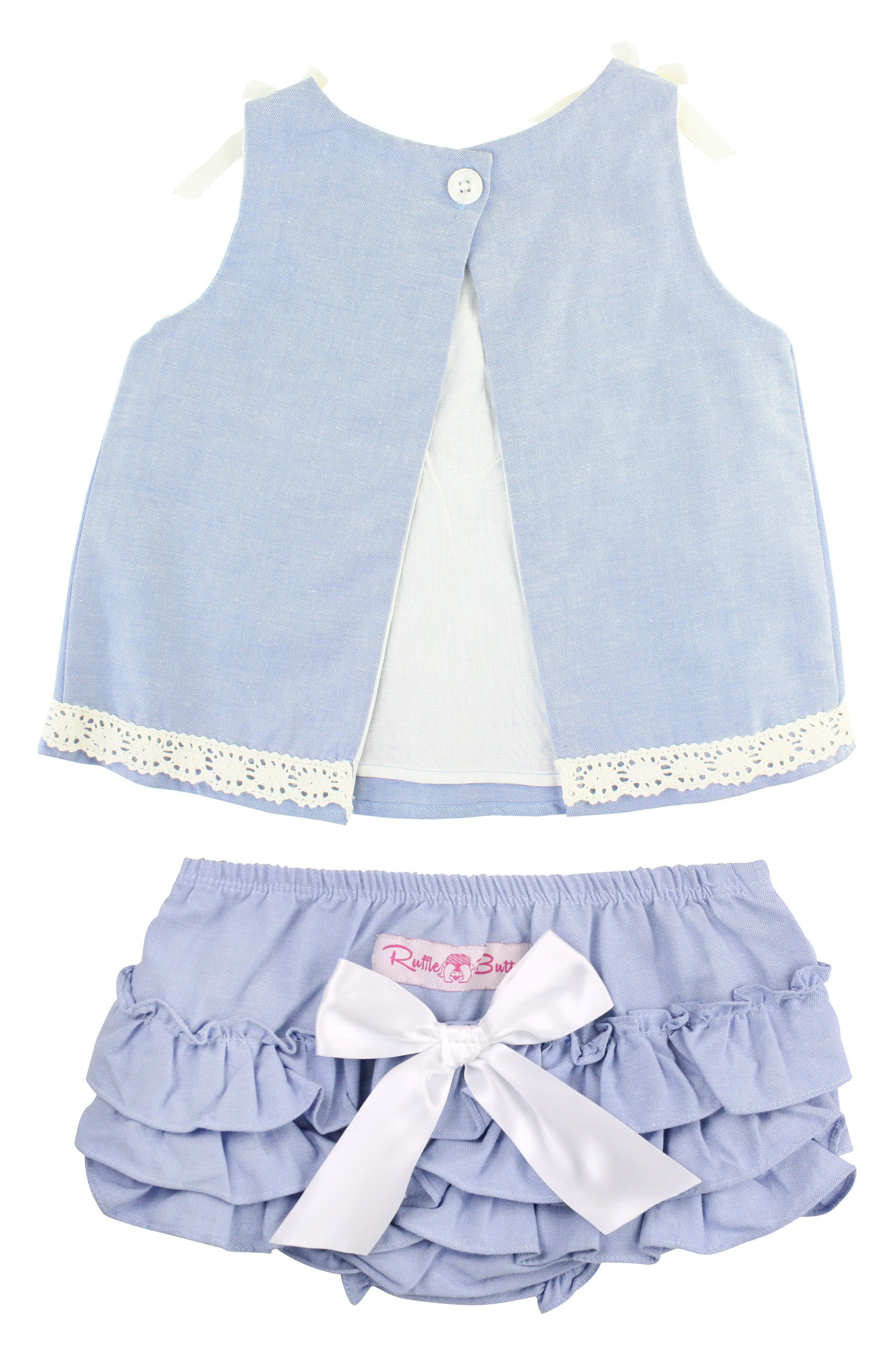 Chambray Swing Top & Ruffle Bloomers Set,                             Alternate thumbnail 2, color,                             400