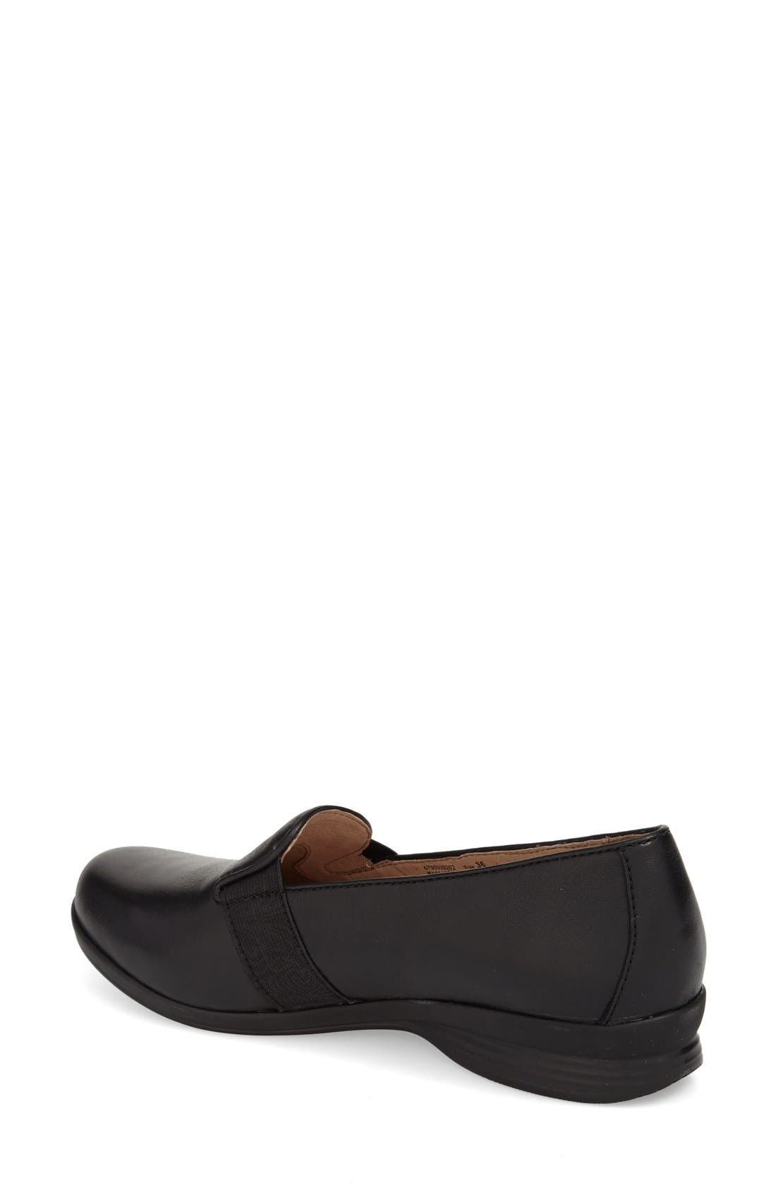 'Addy' Loafer,                             Alternate thumbnail 2, color,                             BLACK NAPPA LEATHER