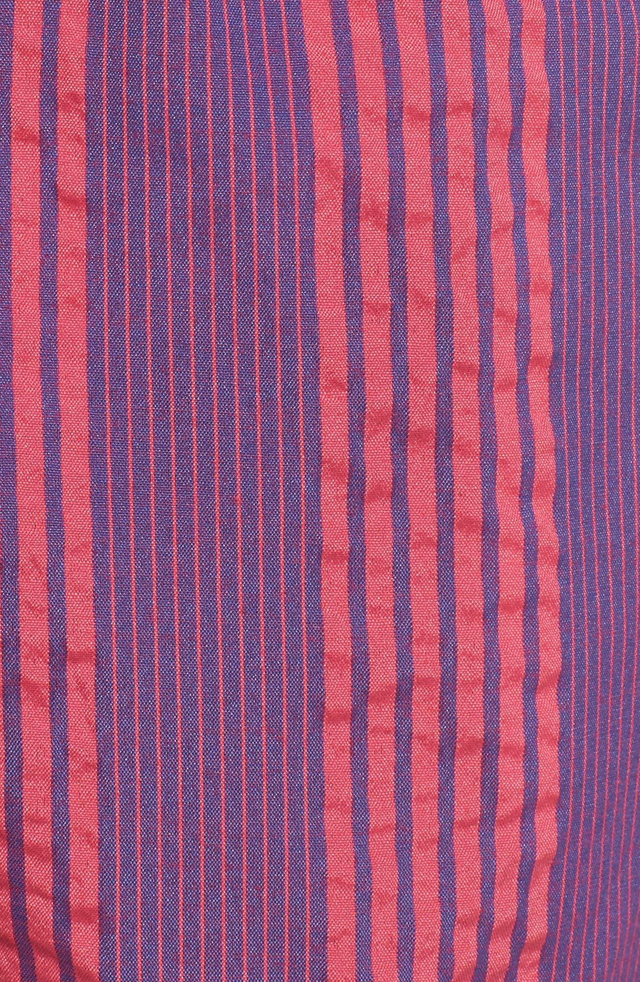 Premium Sano Swim Trunks,                             Alternate thumbnail 5, color,                             TWILIGHT/ BRIGHT CORAL