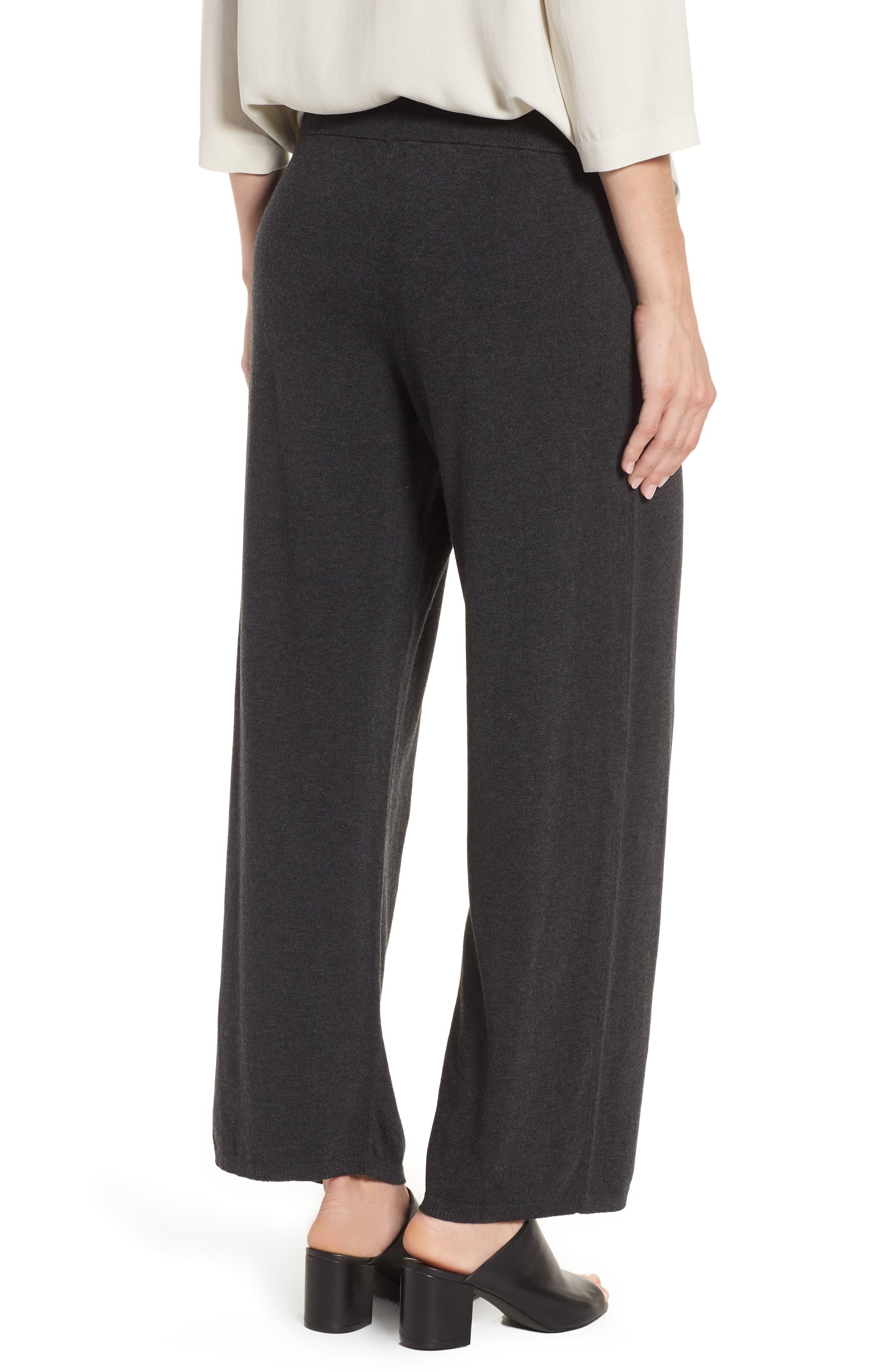 Tencel<sup>®</sup> Lyocell Blend Knit Wide Leg Pants,                             Alternate thumbnail 2, color,