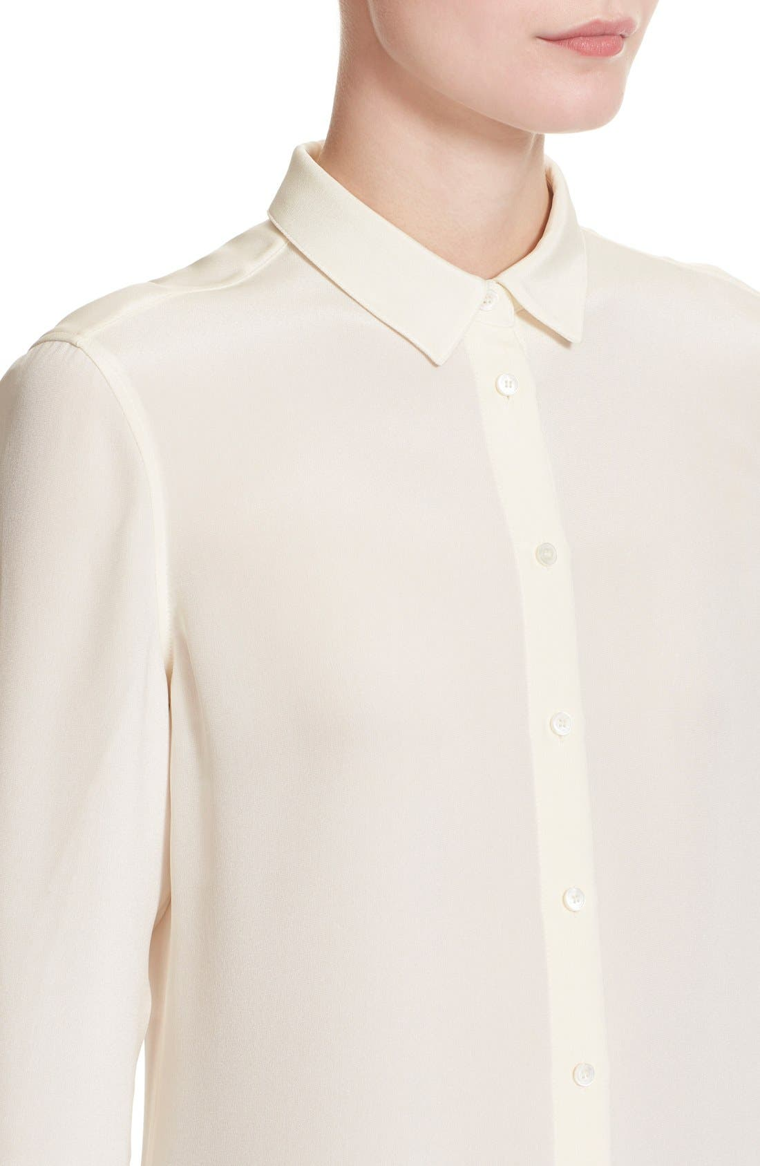 'Aster' Mulberry Silk Blouse,                             Alternate thumbnail 3, color,                             103