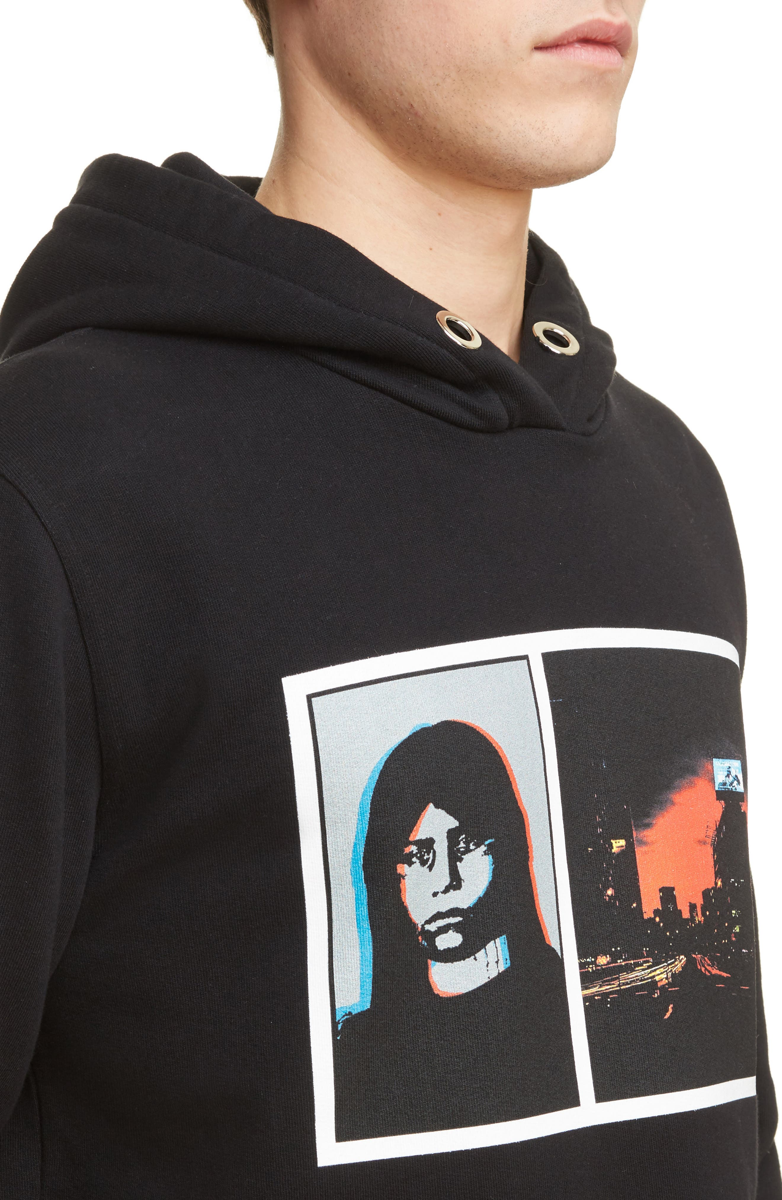 Abstract Photo Hoodie,                             Alternate thumbnail 4, color,                             001