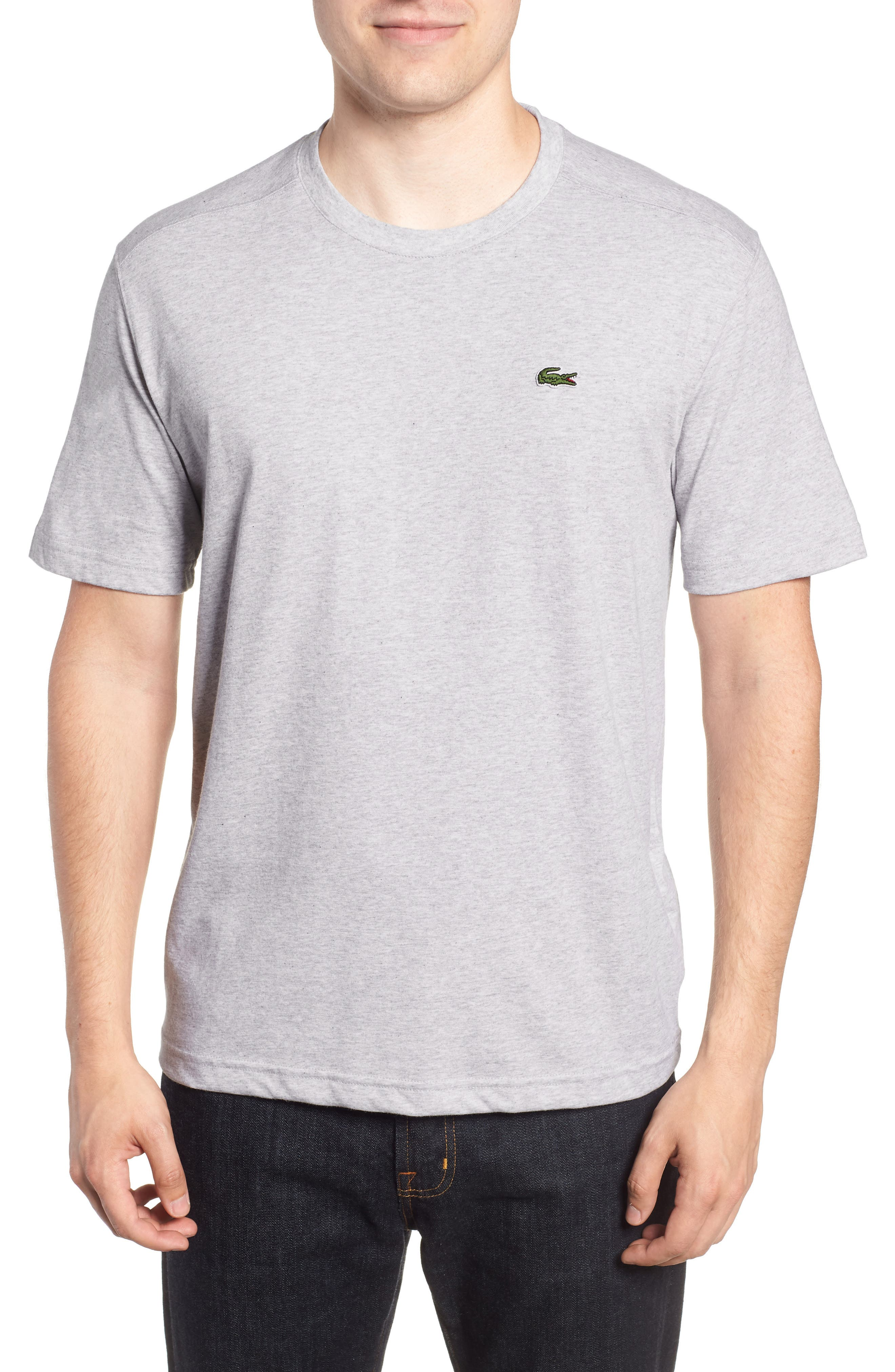 'Sport' Cotton Jersey T-Shirt,                         Main,                         color, SILVER CHINE