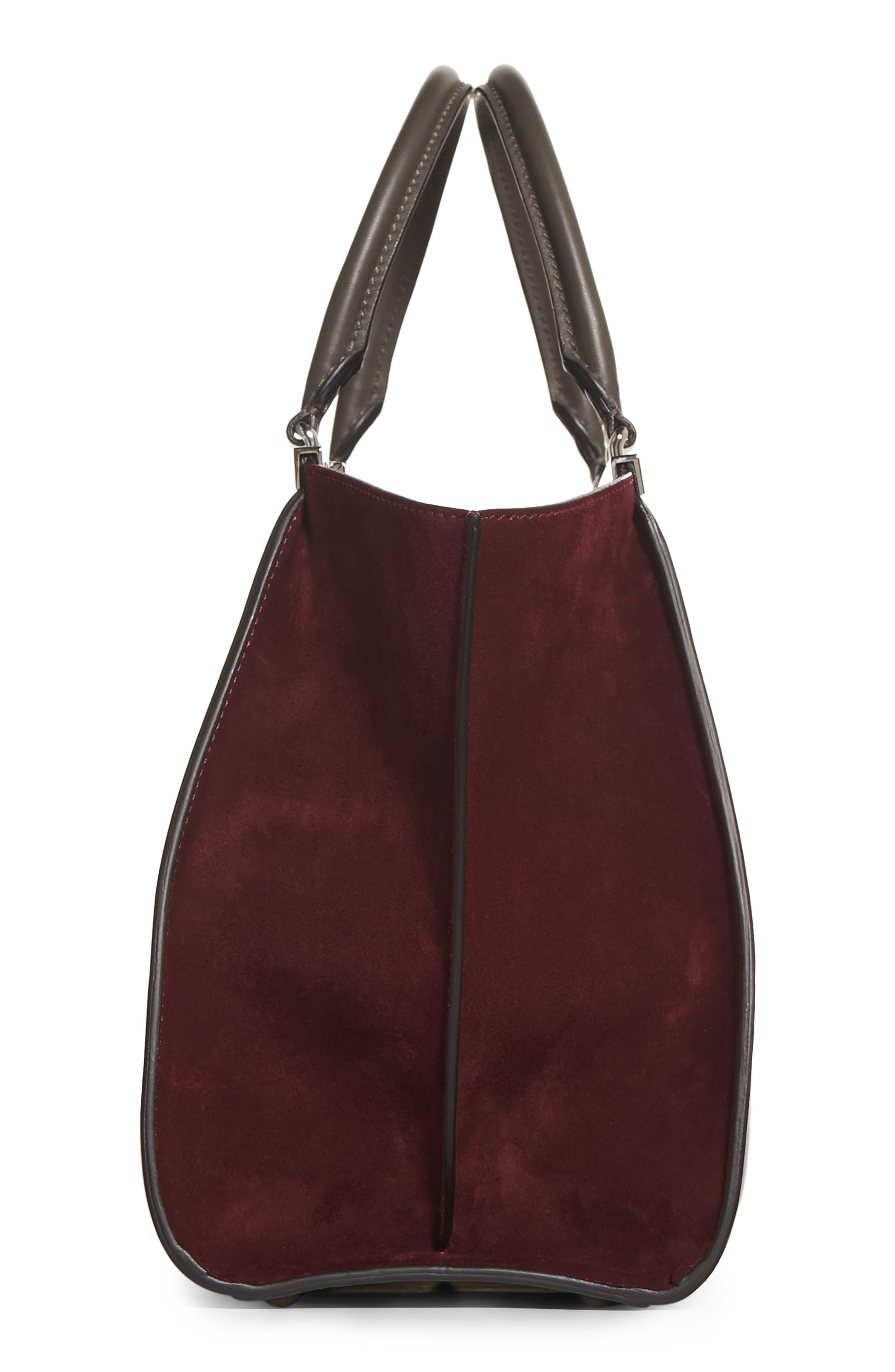 3Jours Baltico Leather & Suede Shopper,                             Alternate thumbnail 9, color,