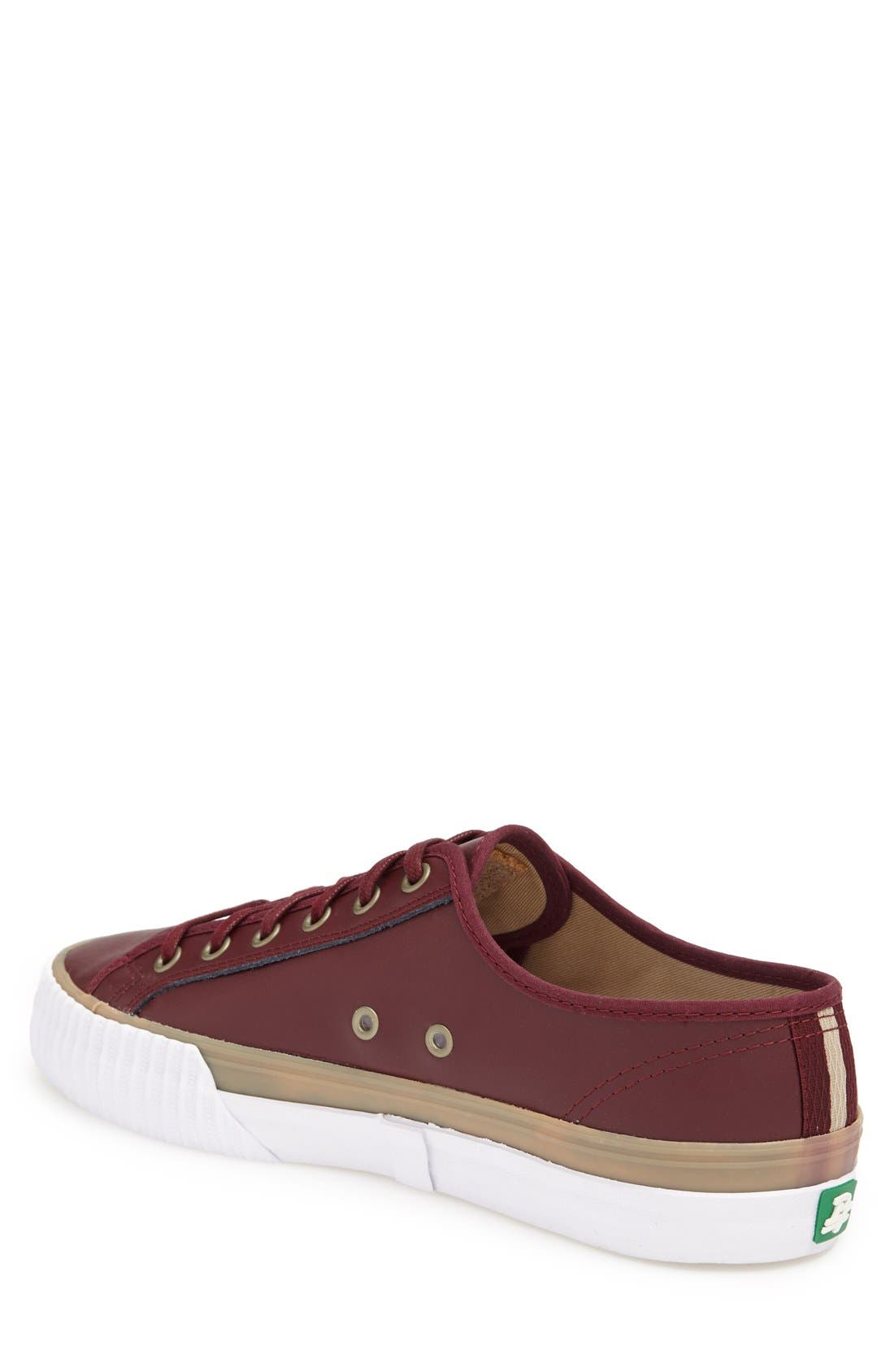 PF FLYERS,                             'Center Lo' Leather Sneaker,                             Alternate thumbnail 2, color,                             932