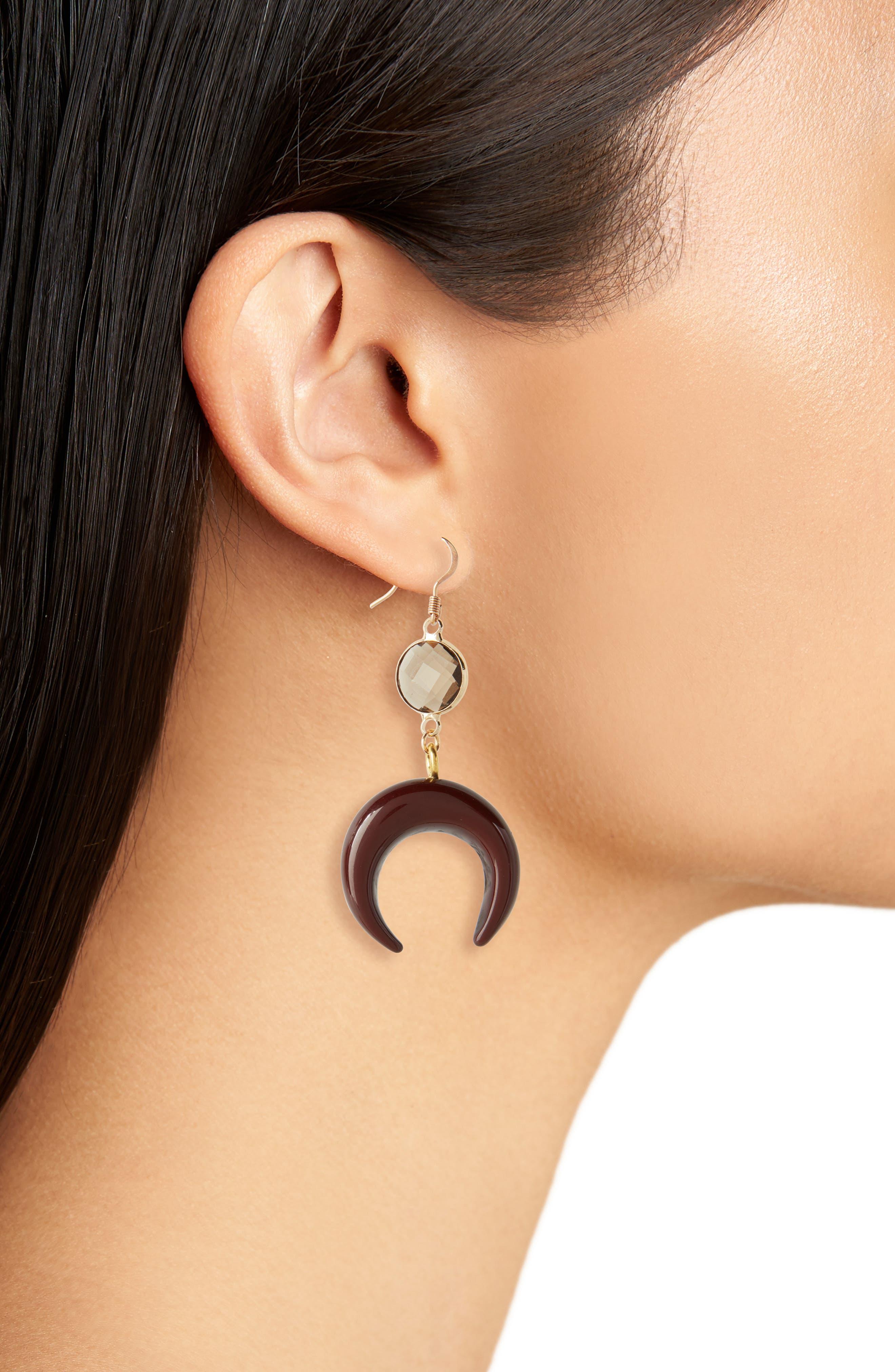 Love's Affect Zoe Crescent Drop Earrings,                             Alternate thumbnail 2, color,                             200