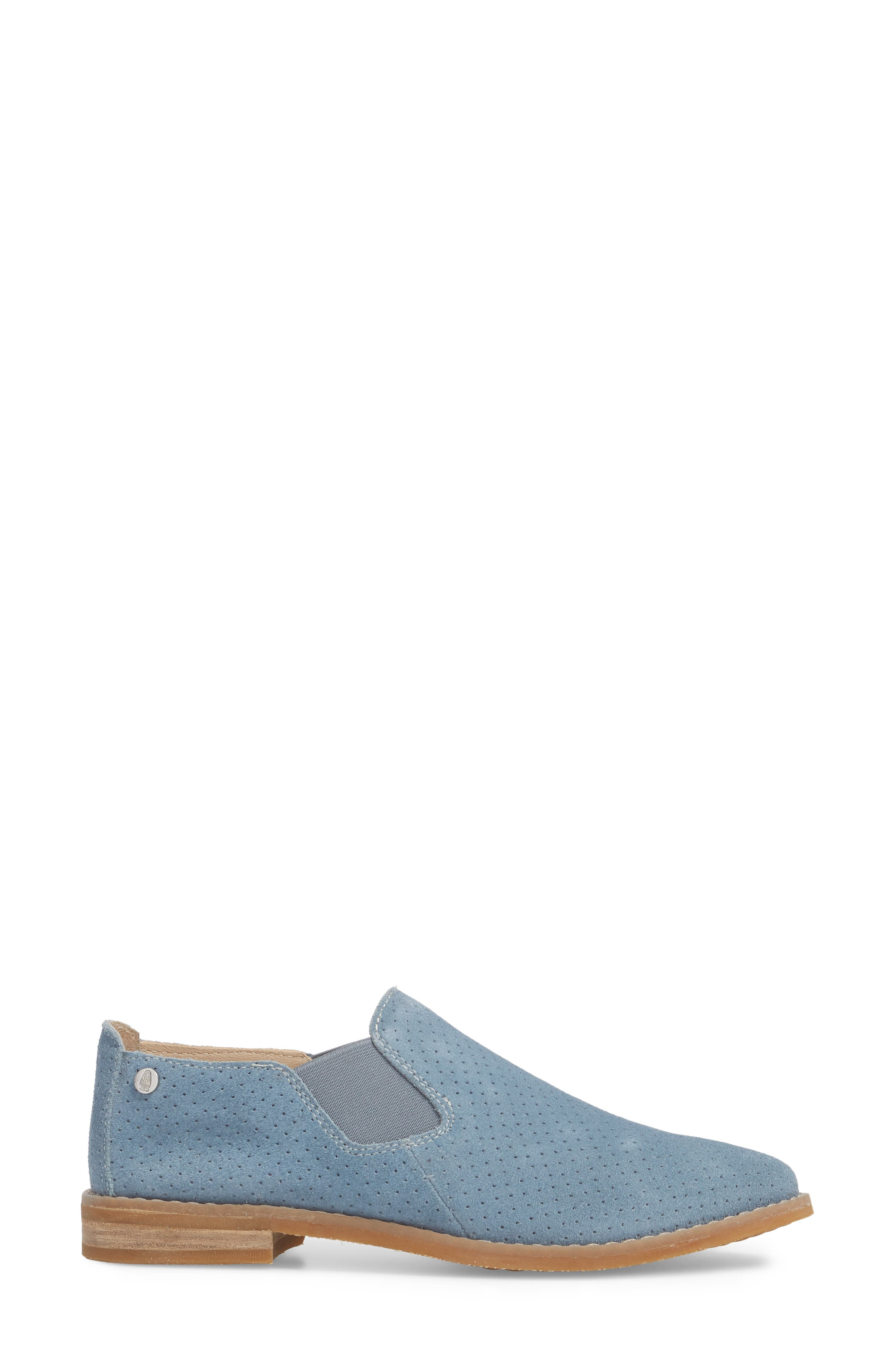 Hush Puppies Analise Clever Slip-On,                             Alternate thumbnail 3, color,                             VINTAGE INDIGO SUEDE