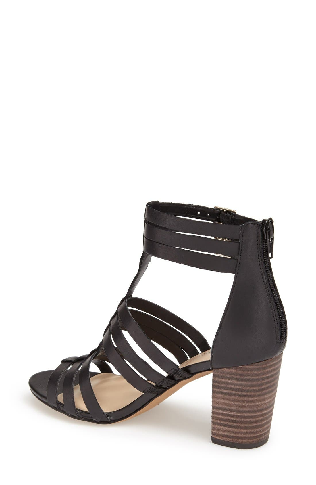 'Elise' Gladiator Sandal,                             Alternate thumbnail 2, color,                             001