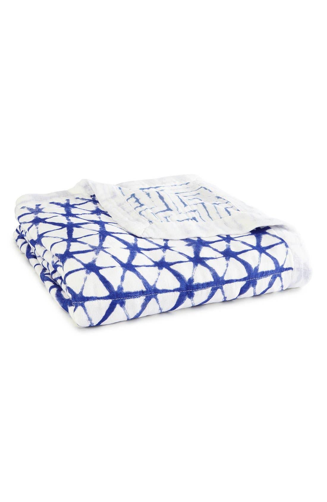 'Silky Soft Dream' Blanket,                             Main thumbnail 1, color,                             BLUE