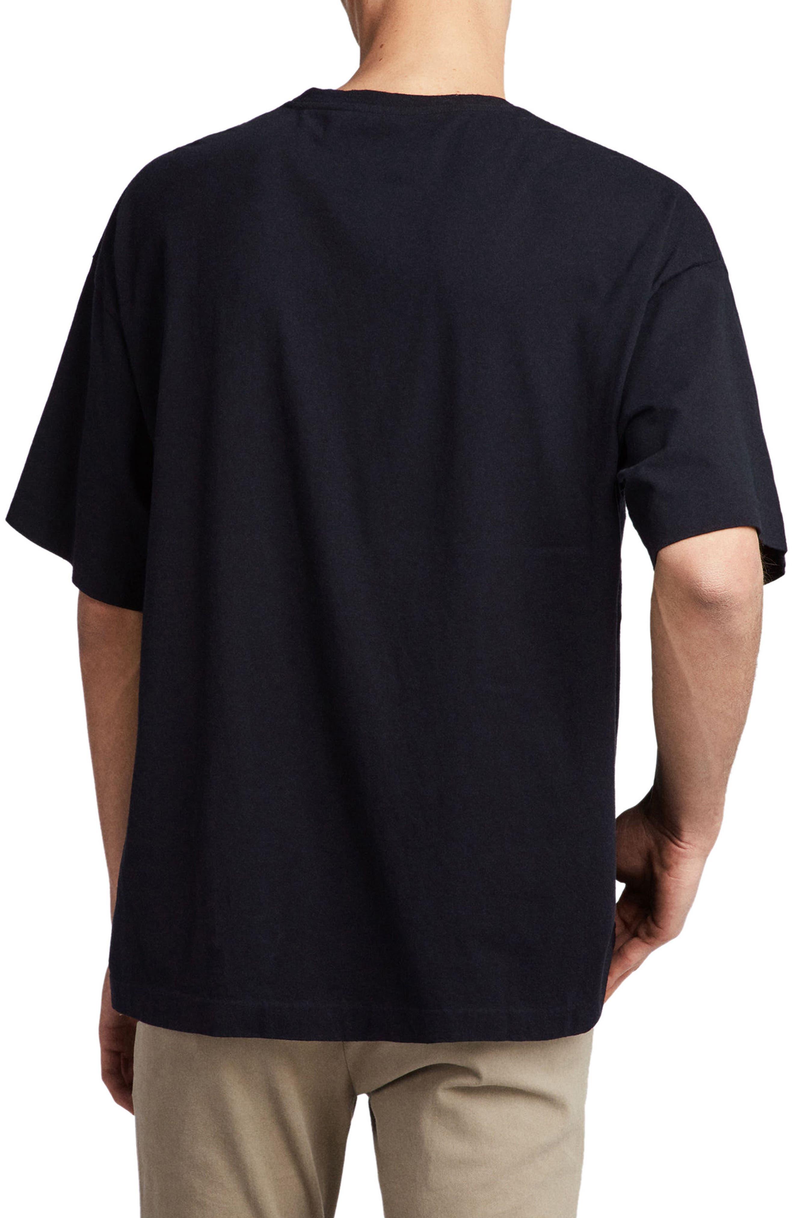 Atnom Crewneck T-Shirt,                             Alternate thumbnail 2, color,                             JET BLACK