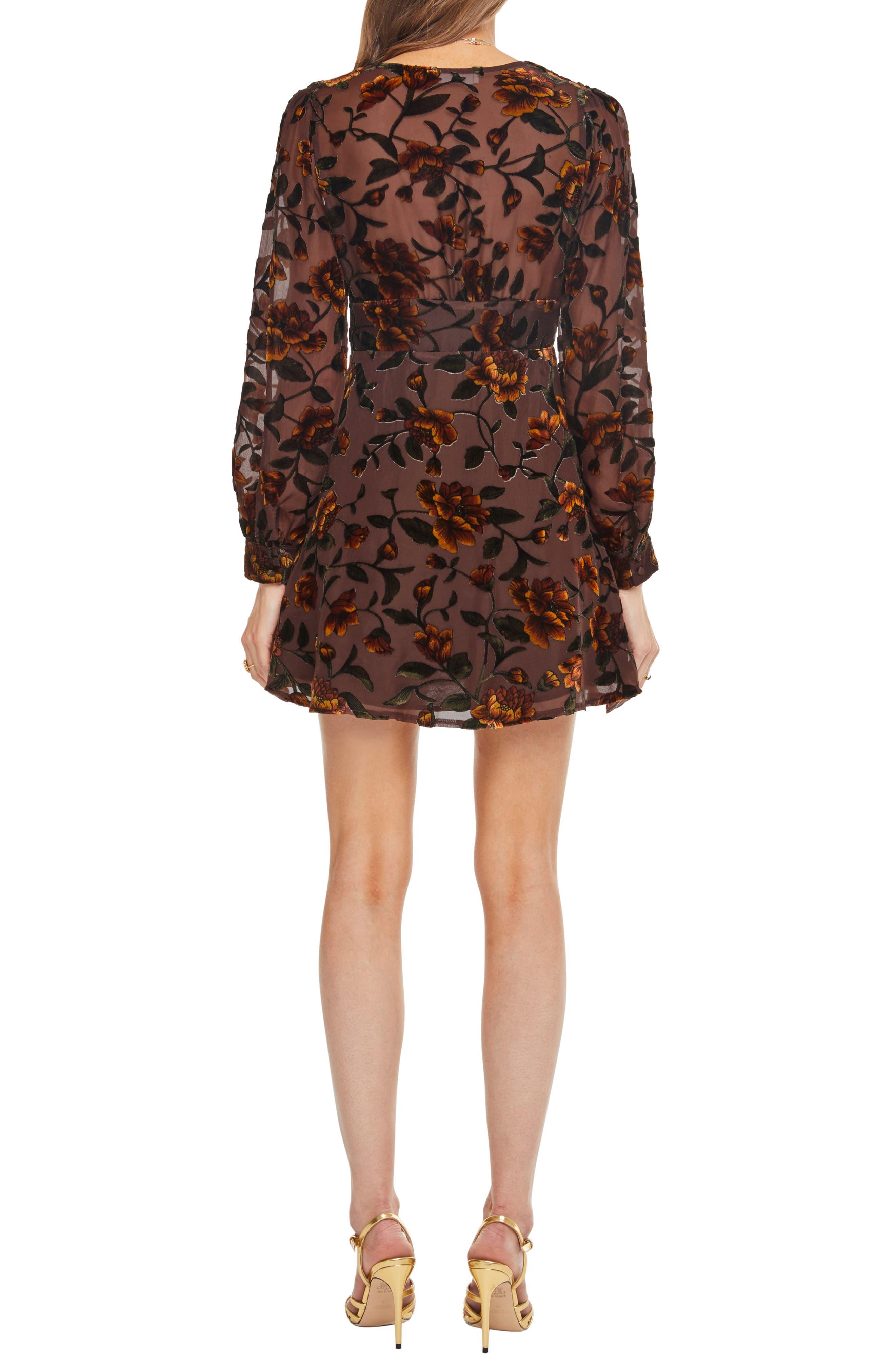 Vivian Floral Burnout Dress,                             Alternate thumbnail 2, color,                             200
