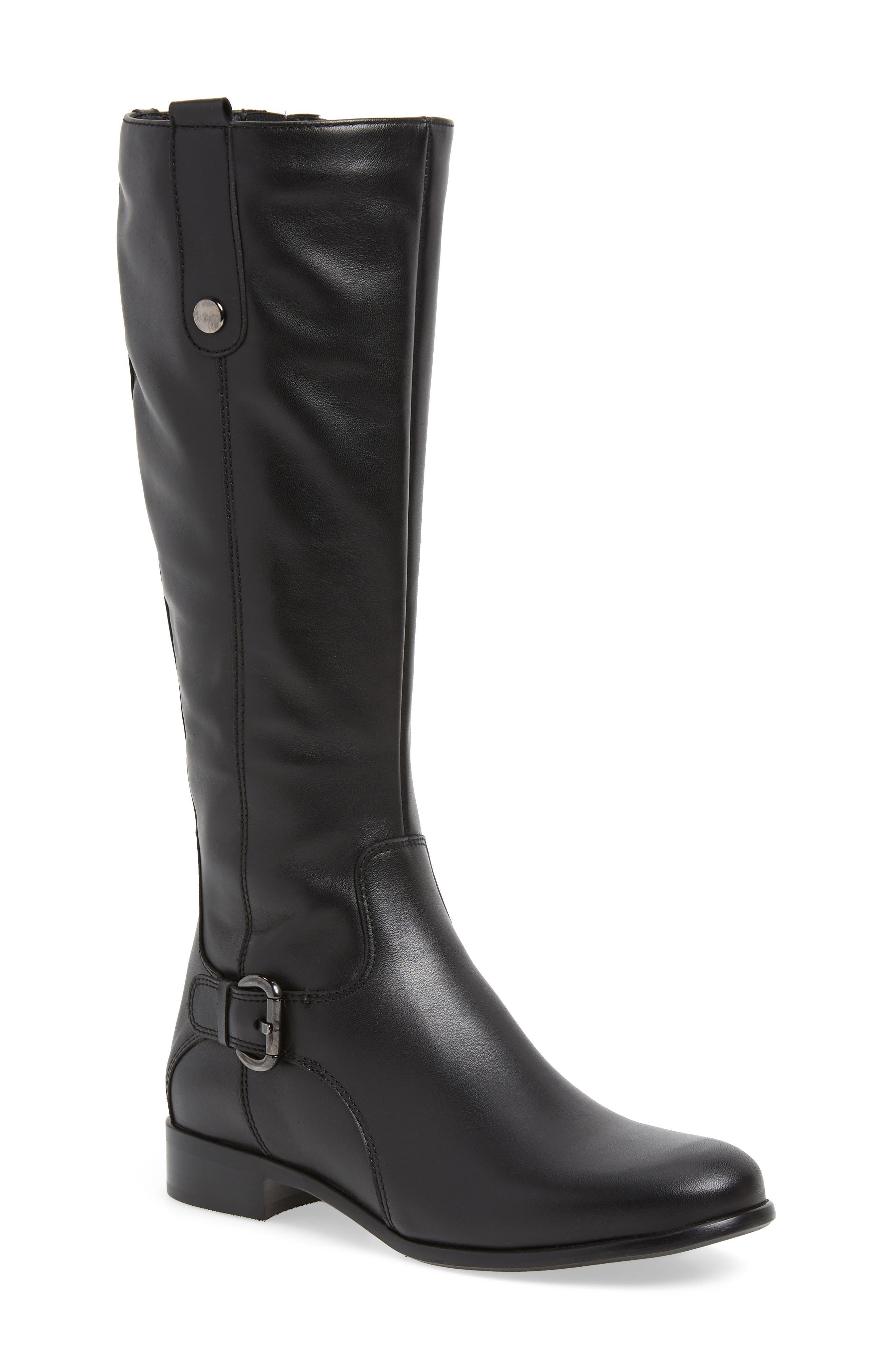 'Stefanie' Waterproof Boot,                             Alternate thumbnail 2, color,                             BLACK LEATHER
