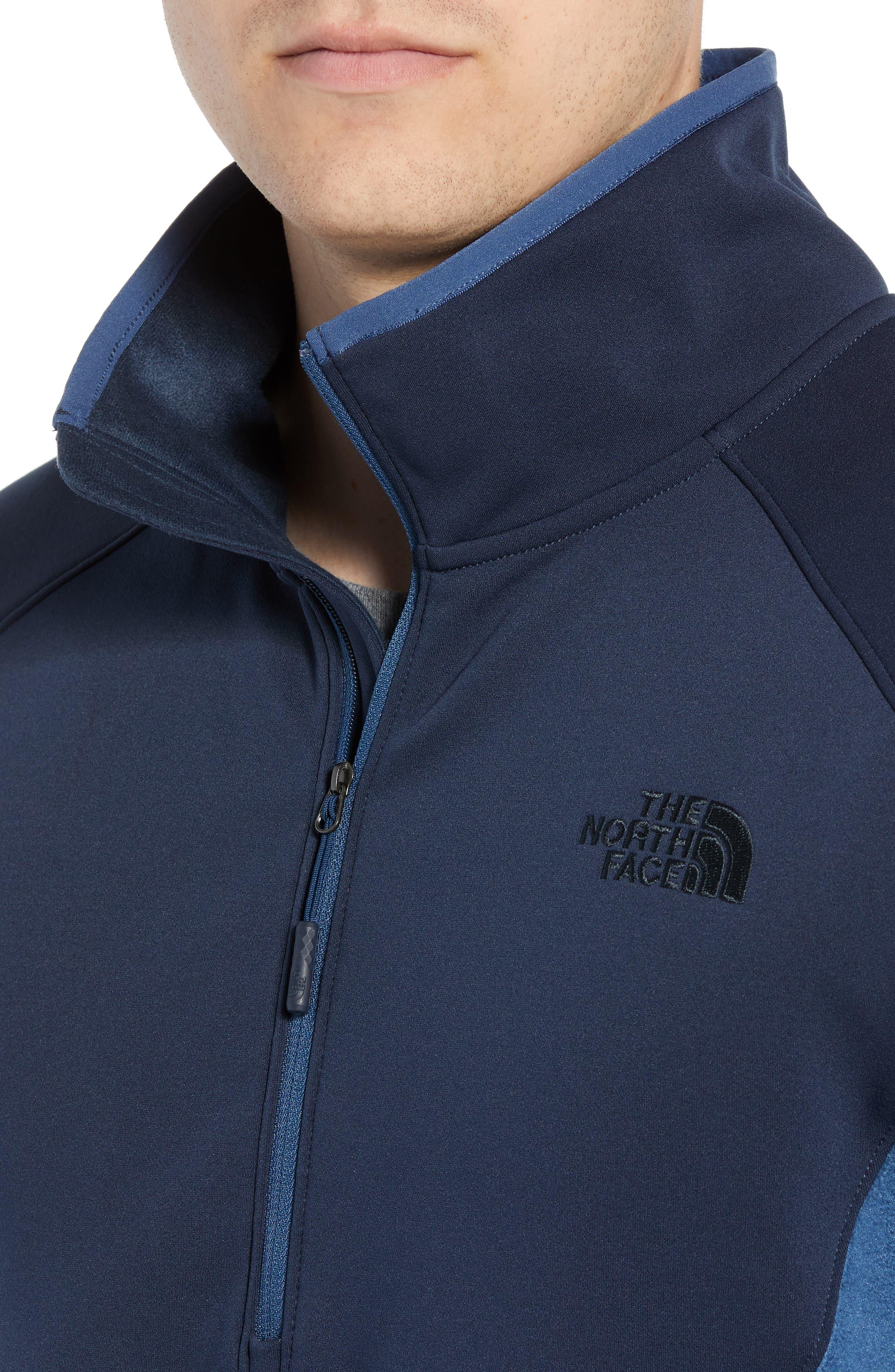 Tolmiepeak Hybrid Half-Zip Pullover,                             Alternate thumbnail 4, color,                             SHADY BLUE/ URBAN NAVY