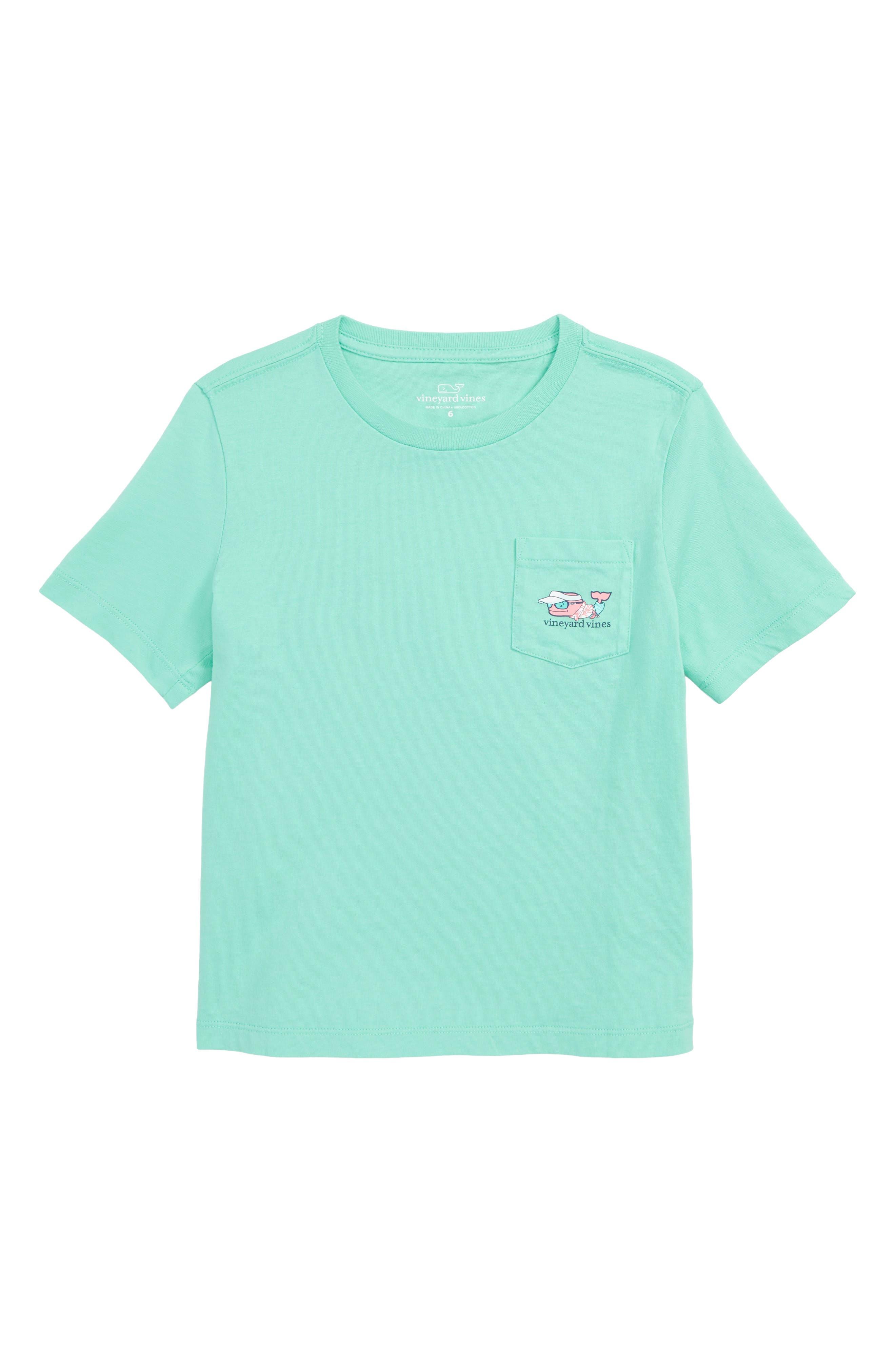 Vacation Whale Pocket T-Shirt,                             Main thumbnail 1, color,                             400