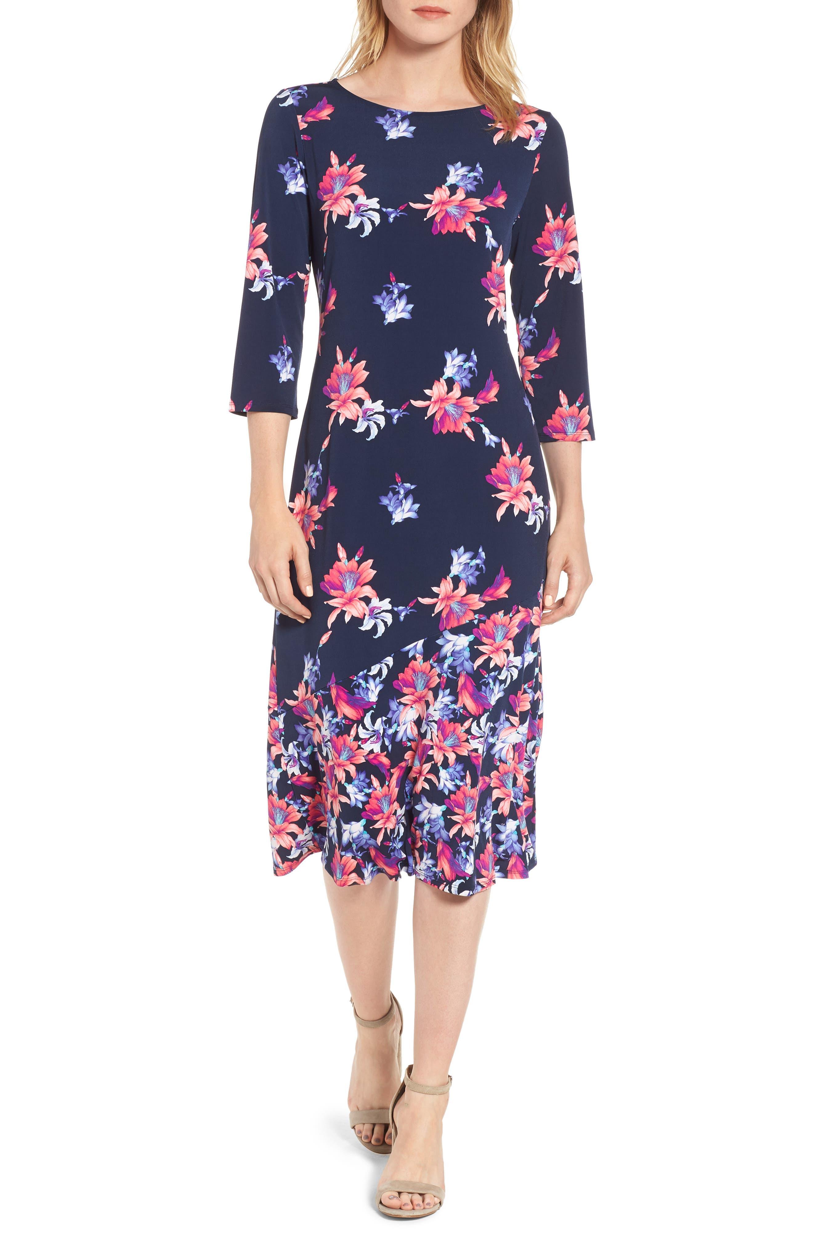 Tommy Bahama Costa Cactus Midi Dress, Blue