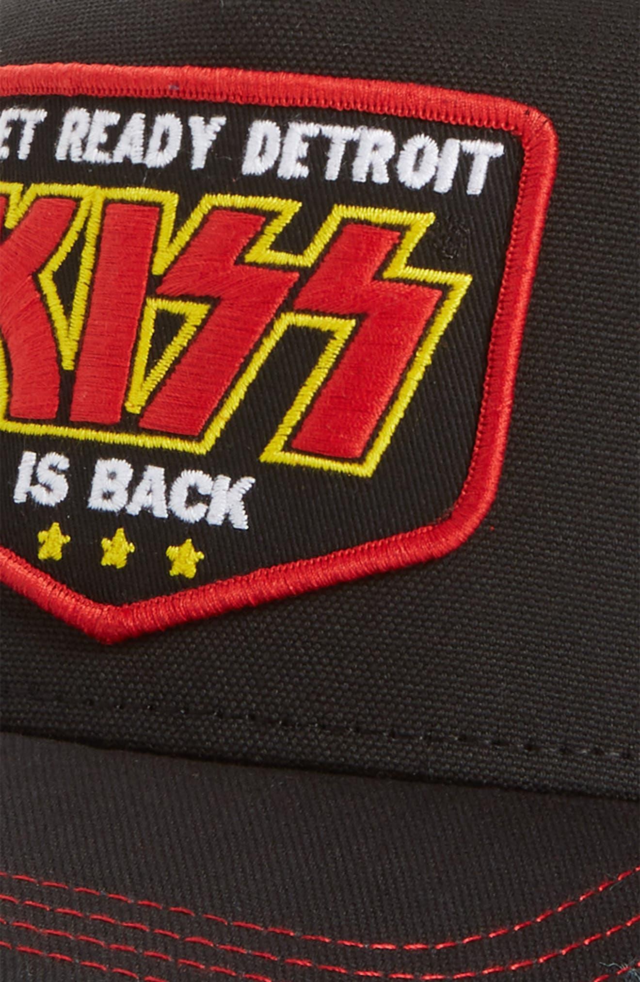 Valin KISS Trucker Hat,                             Alternate thumbnail 3, color,                             001