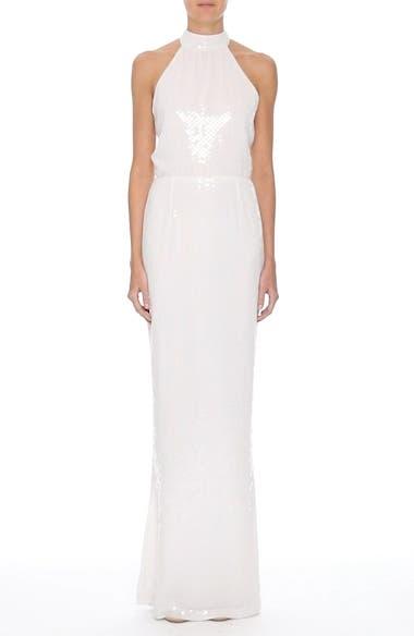 Inga Sequin Halter Style Column Gown, video thumbnail
