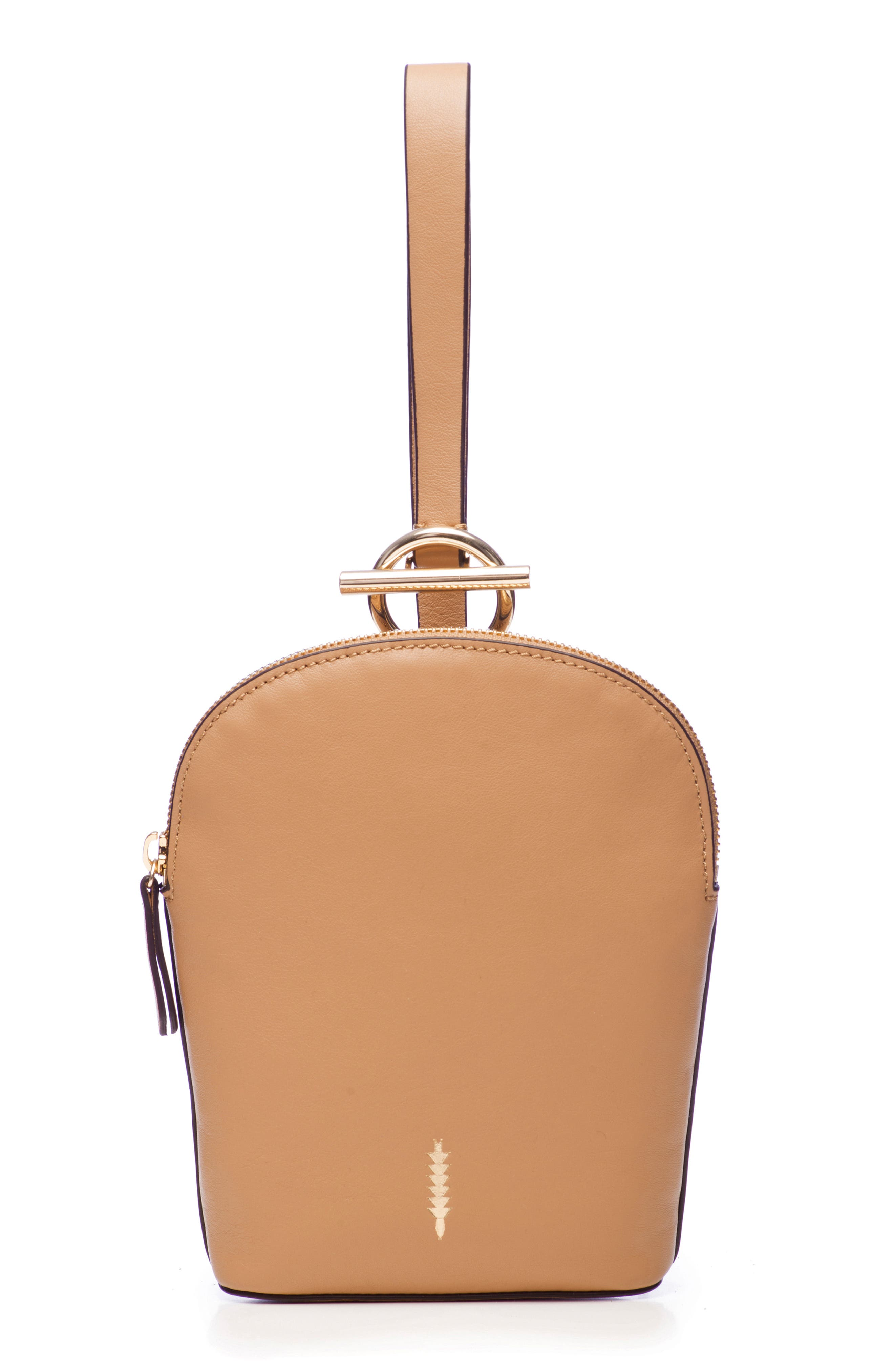 Thacker Ava Leather Wristlet - Brown