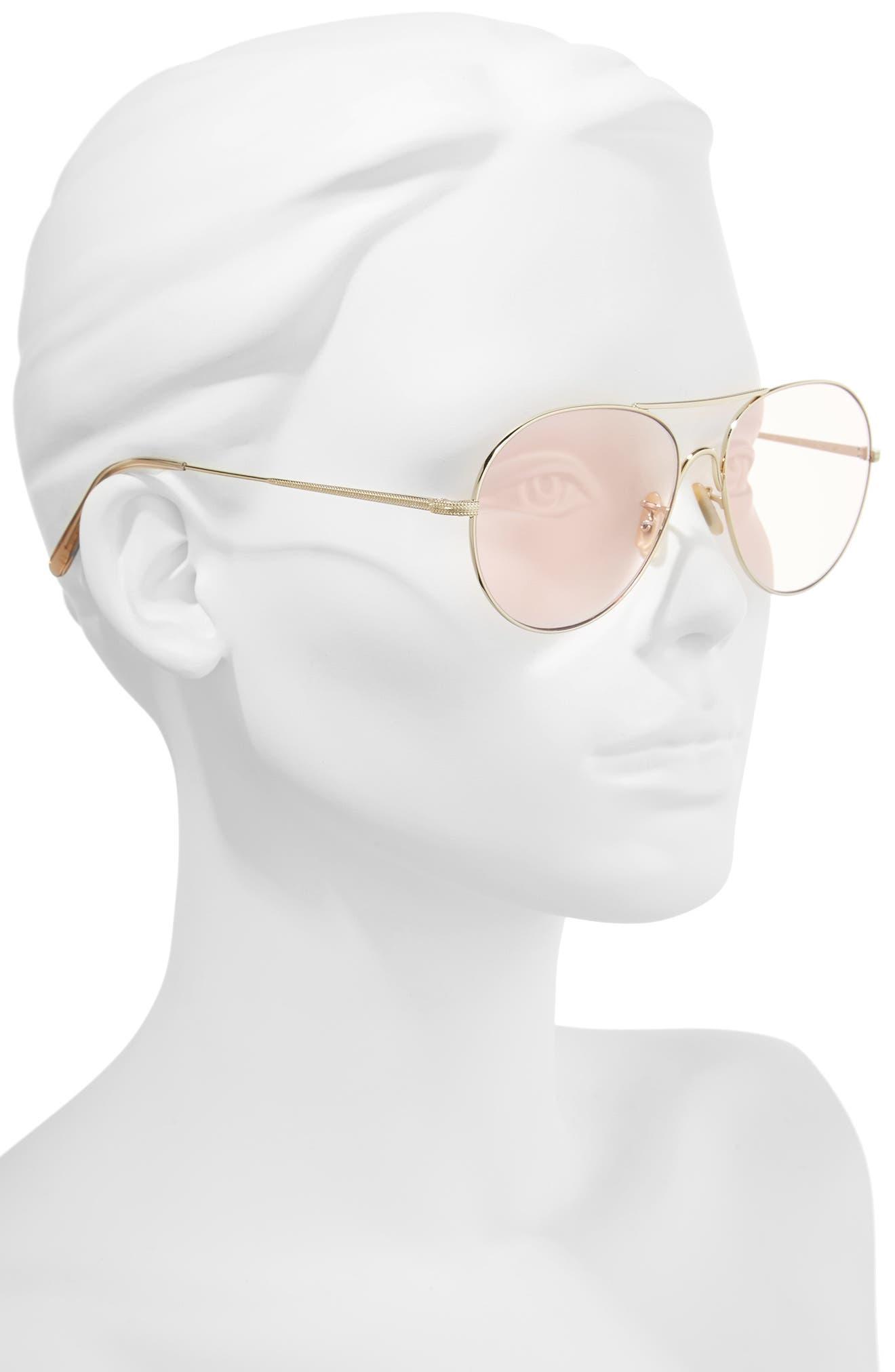 Rockmore 58mm Aviator Sunglasses,                             Alternate thumbnail 2, color,                             PINK