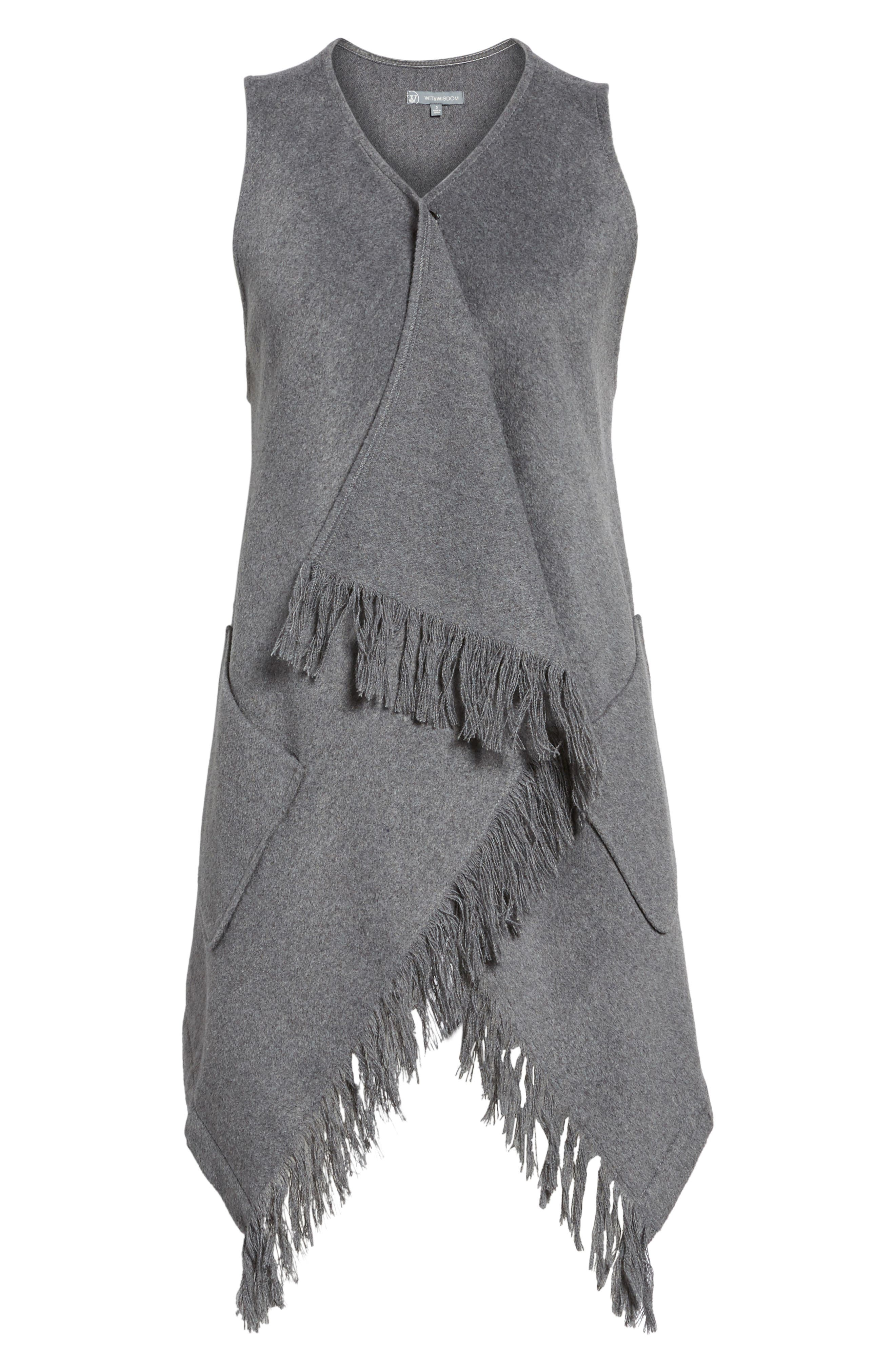 Fringe Vest,                             Alternate thumbnail 5, color,                             099