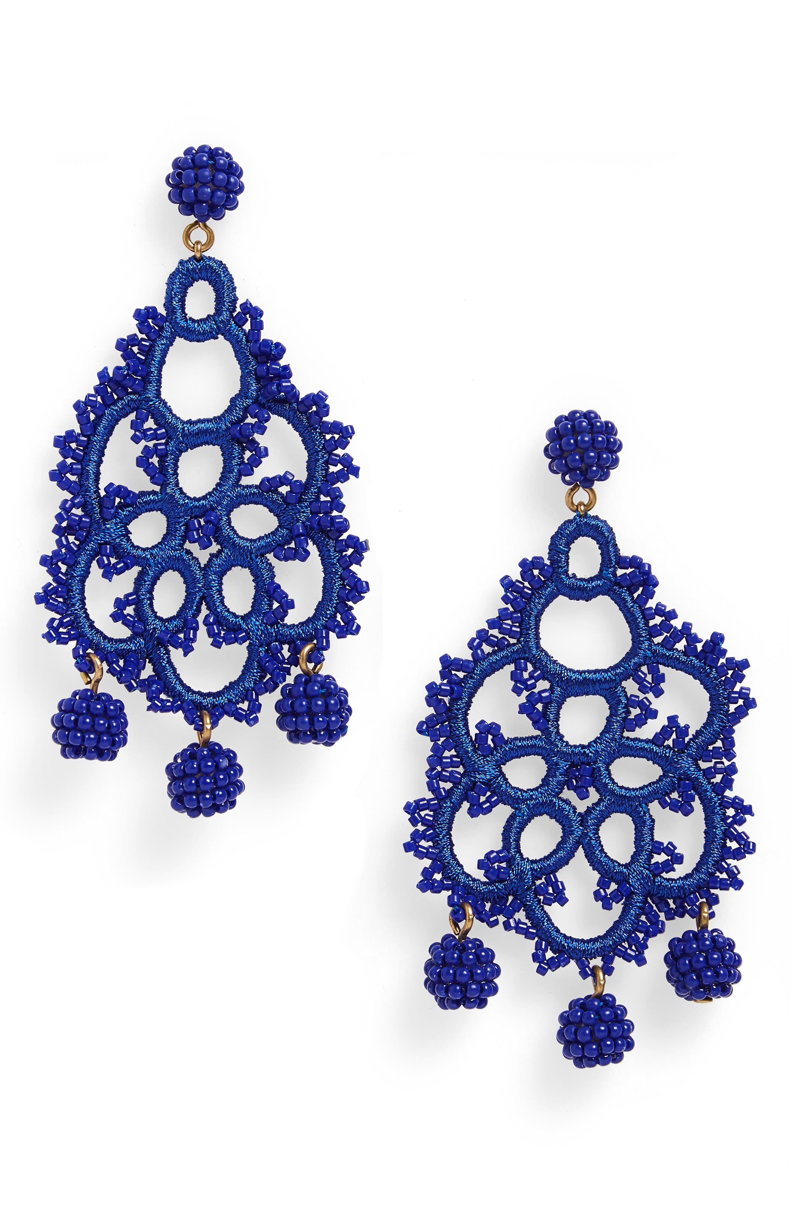 Bead & Embroidery Earrings,                             Main thumbnail 2, color,