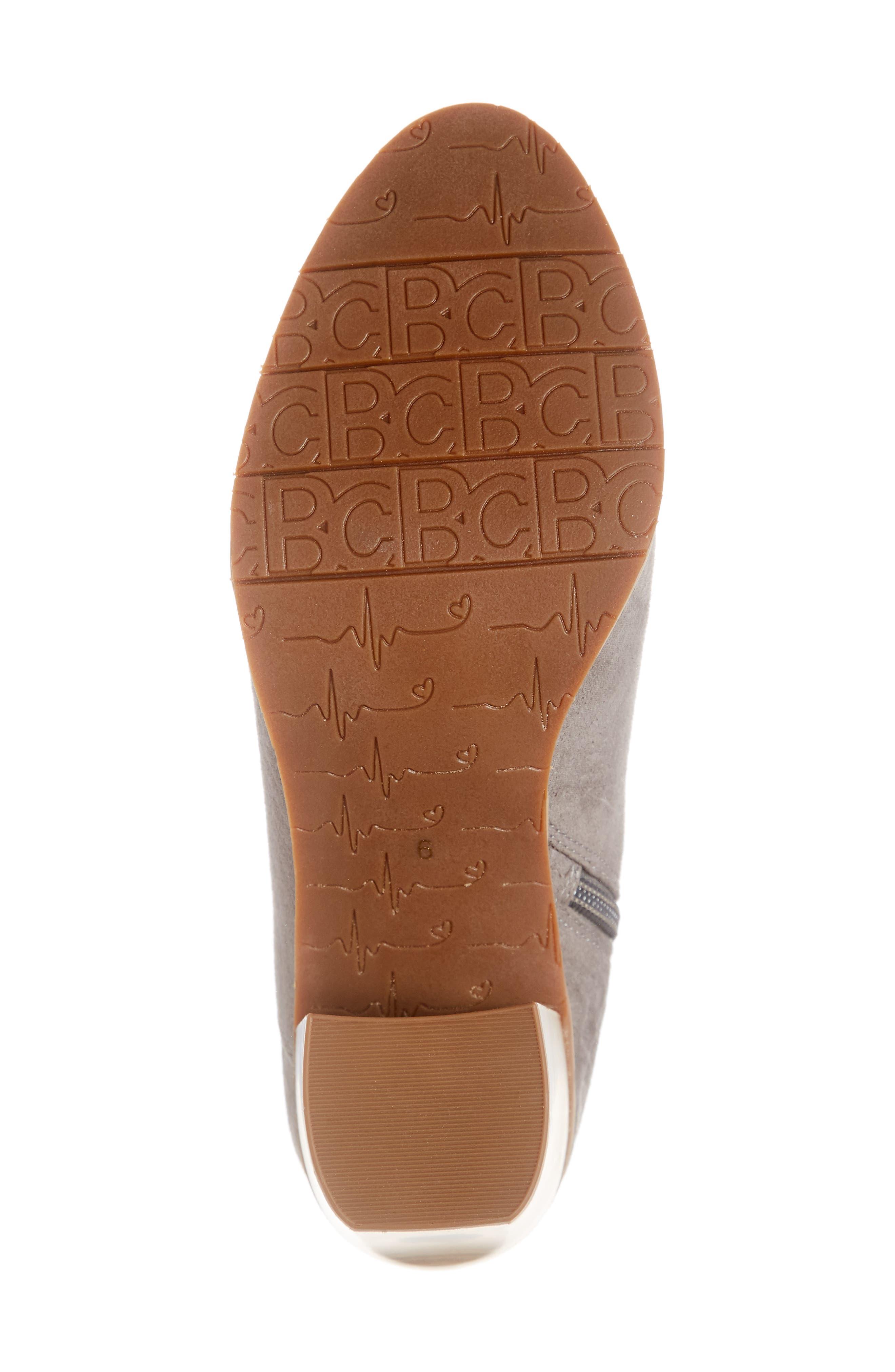 BC FOOTWEAR,                             Kettle Block Heel Bootie,                             Alternate thumbnail 6, color,                             GREY VEGAN SUEDE