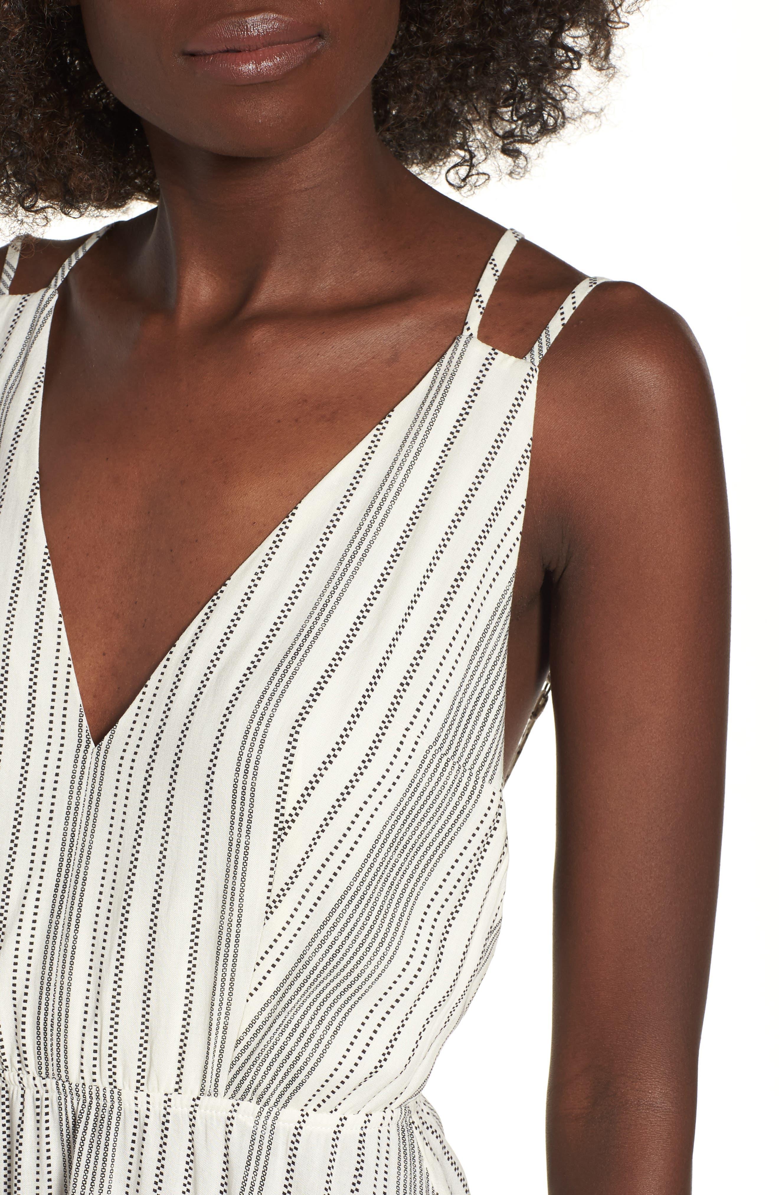 Stripe Strappy Swing Dress,                             Alternate thumbnail 4, color,                             900