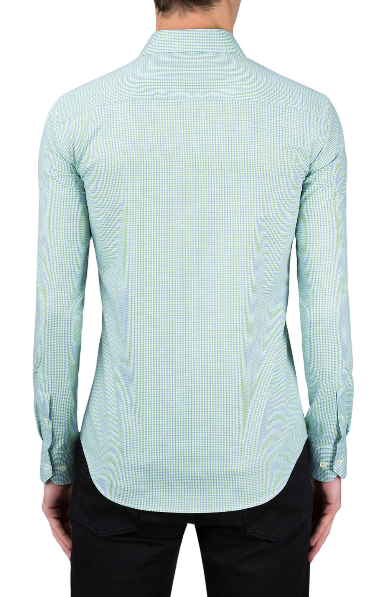 Classic Fit Plaid Sport Shirt,                             Alternate thumbnail 3, color,
