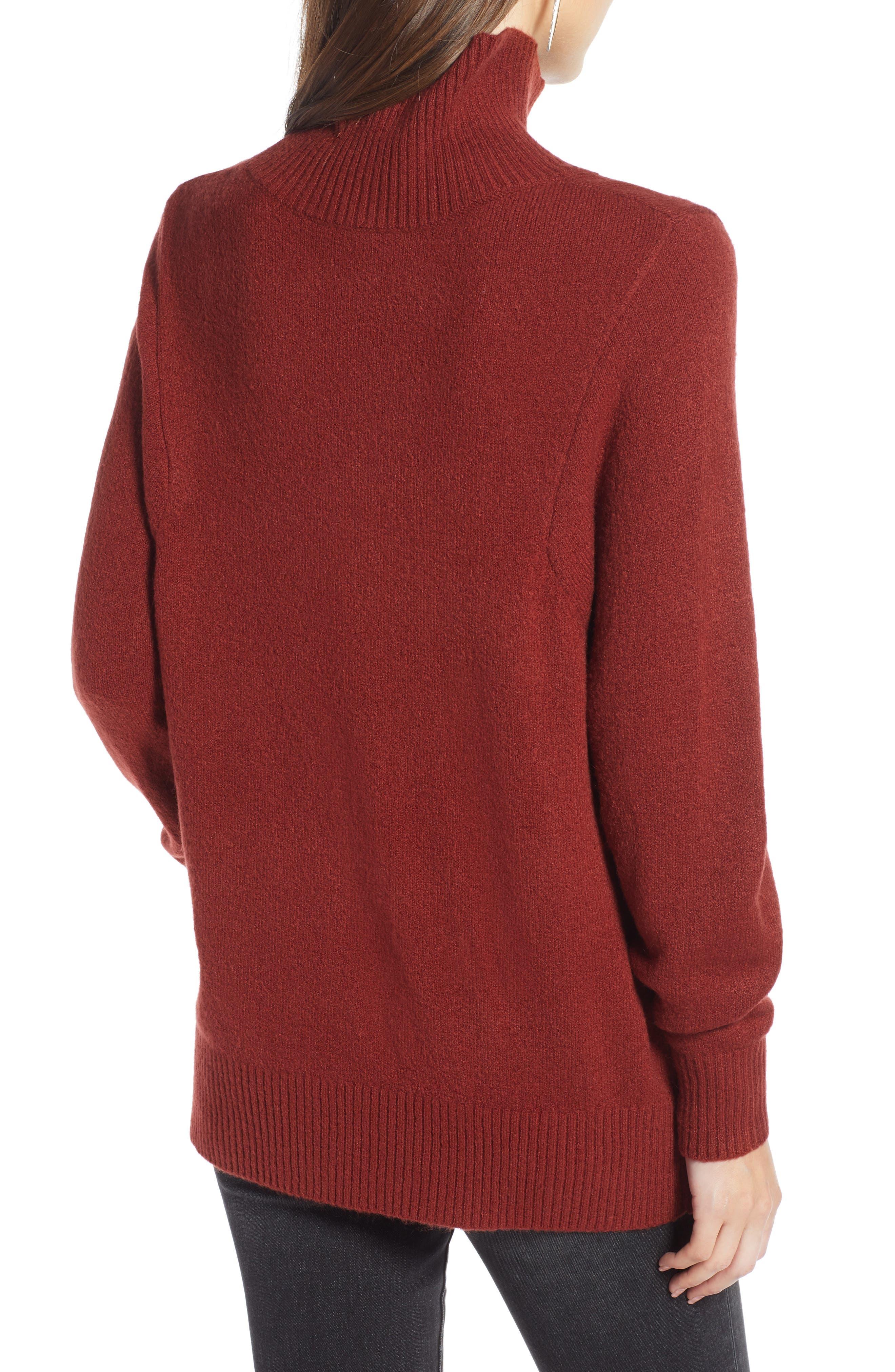 Seasonal Pullover Sweater,                             Alternate thumbnail 2, color,                             BURGUNDY RUSSET