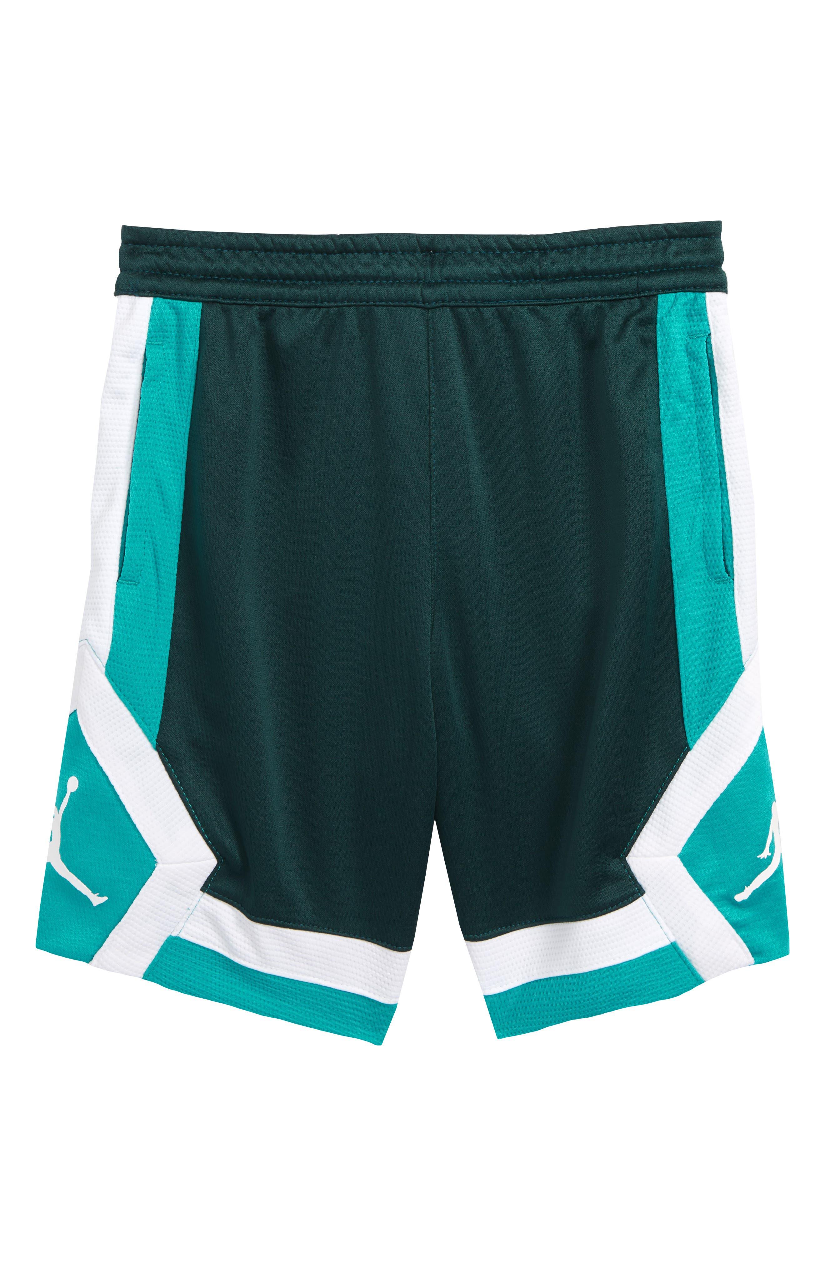 Jordan Rise Athletic Shorts,                         Main,                         color, MIDNIGHT SPRUCE