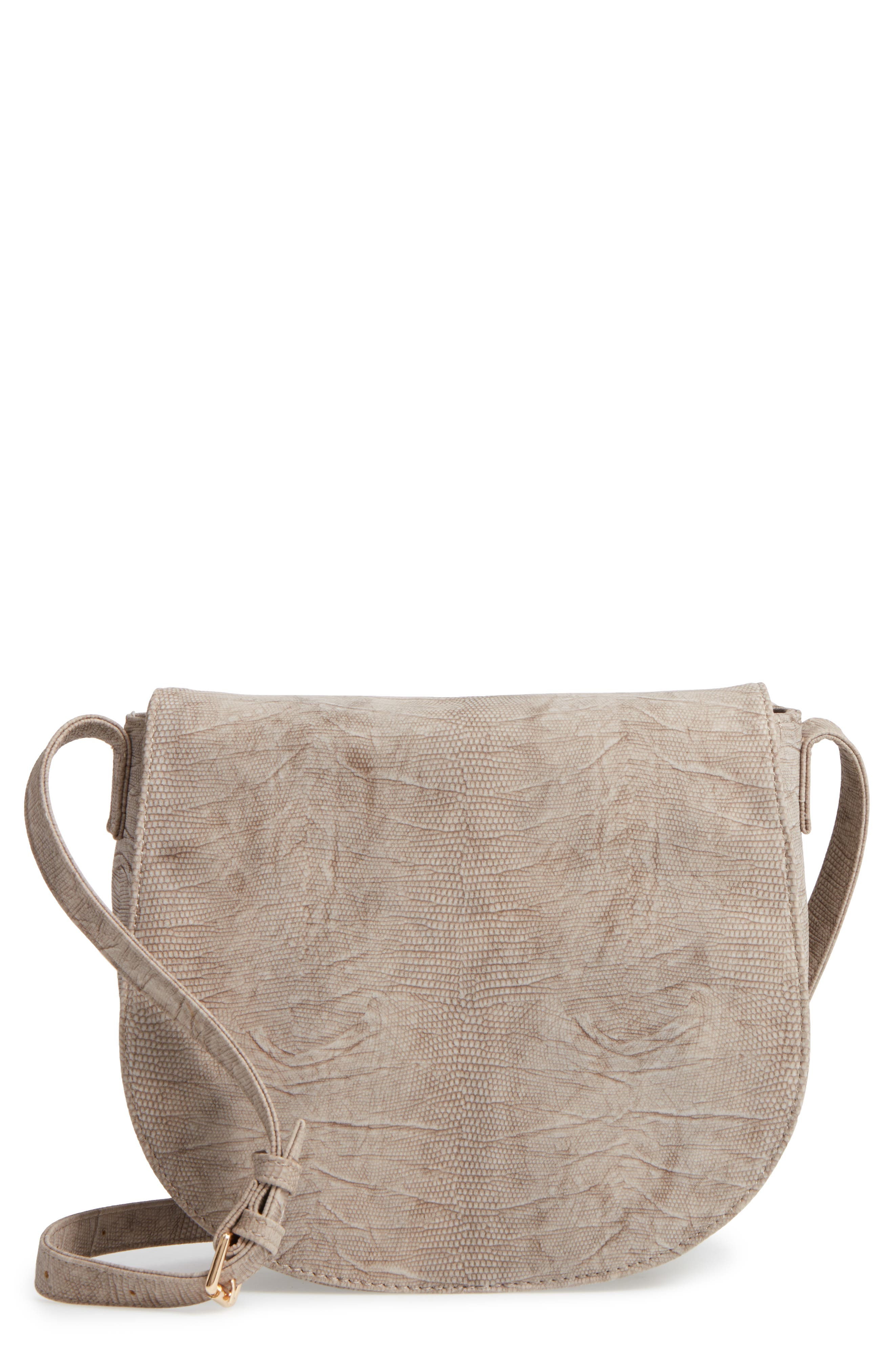 Livvy Faux Leather Crossbody Saddle Bag,                         Main,                         color, 250