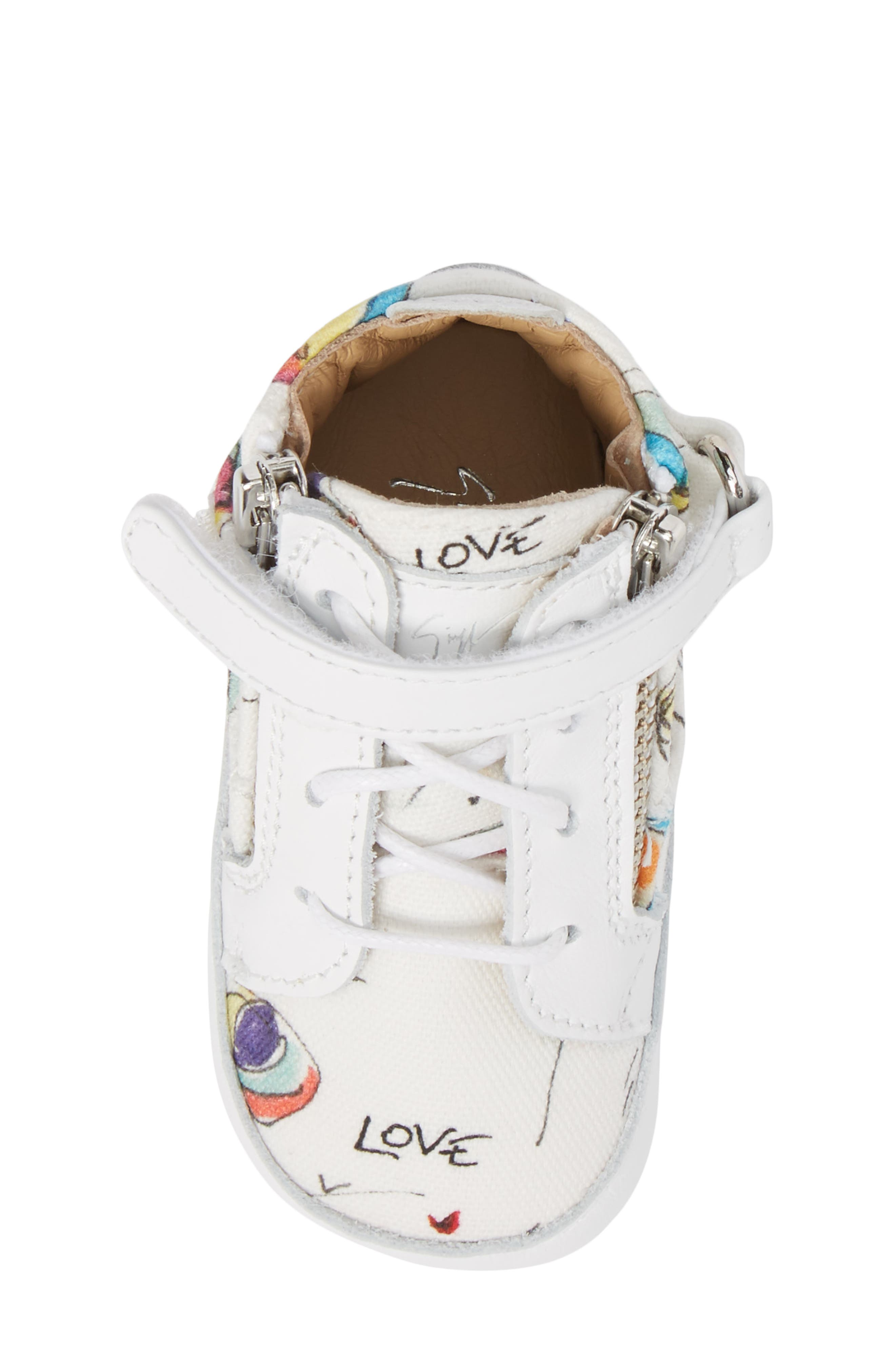 Culla London High Top Crib Sneaker,                             Alternate thumbnail 14, color,