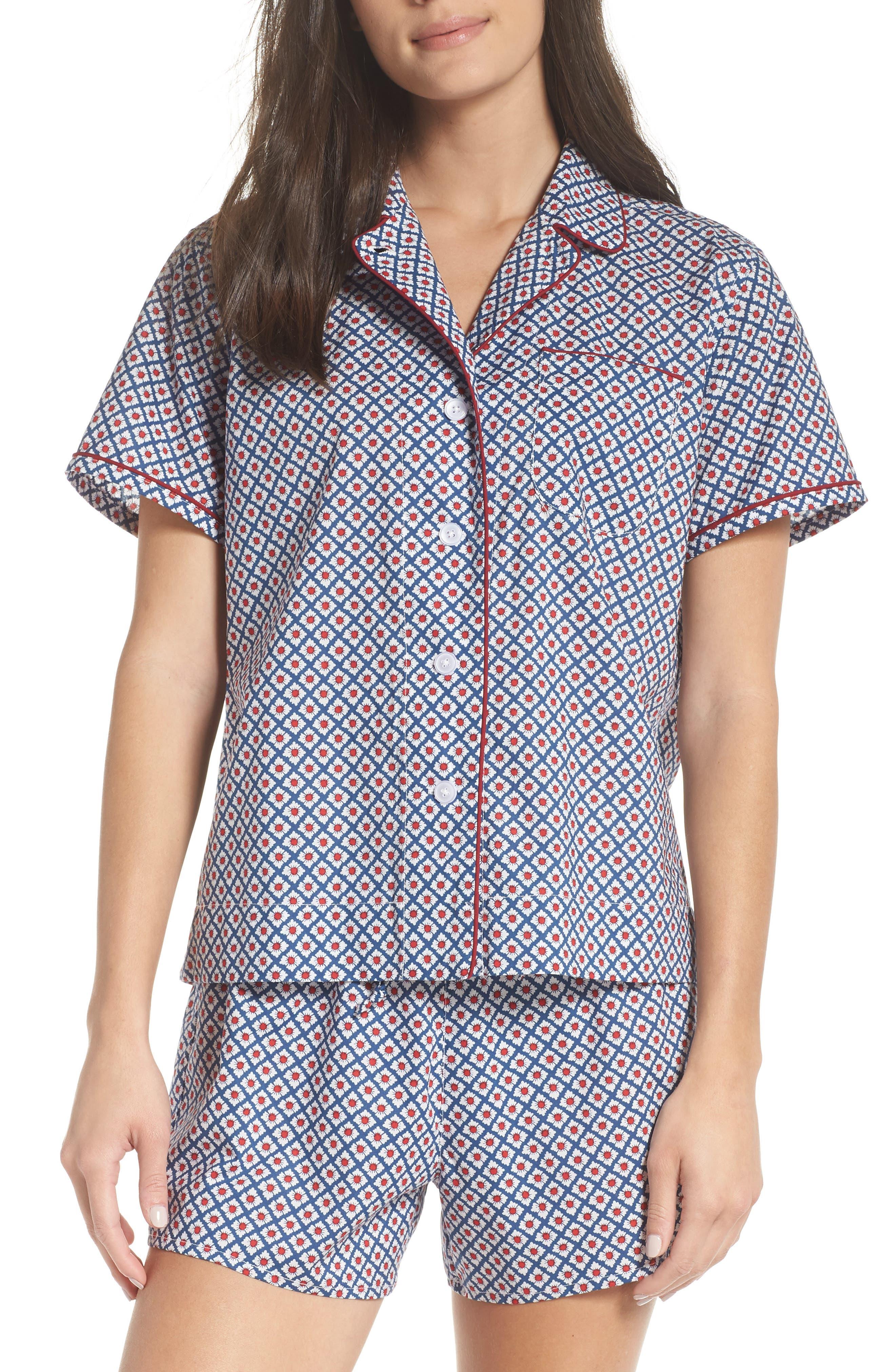 Corita Women's Pajama Shirt,                             Alternate thumbnail 7, color,                             NAVY