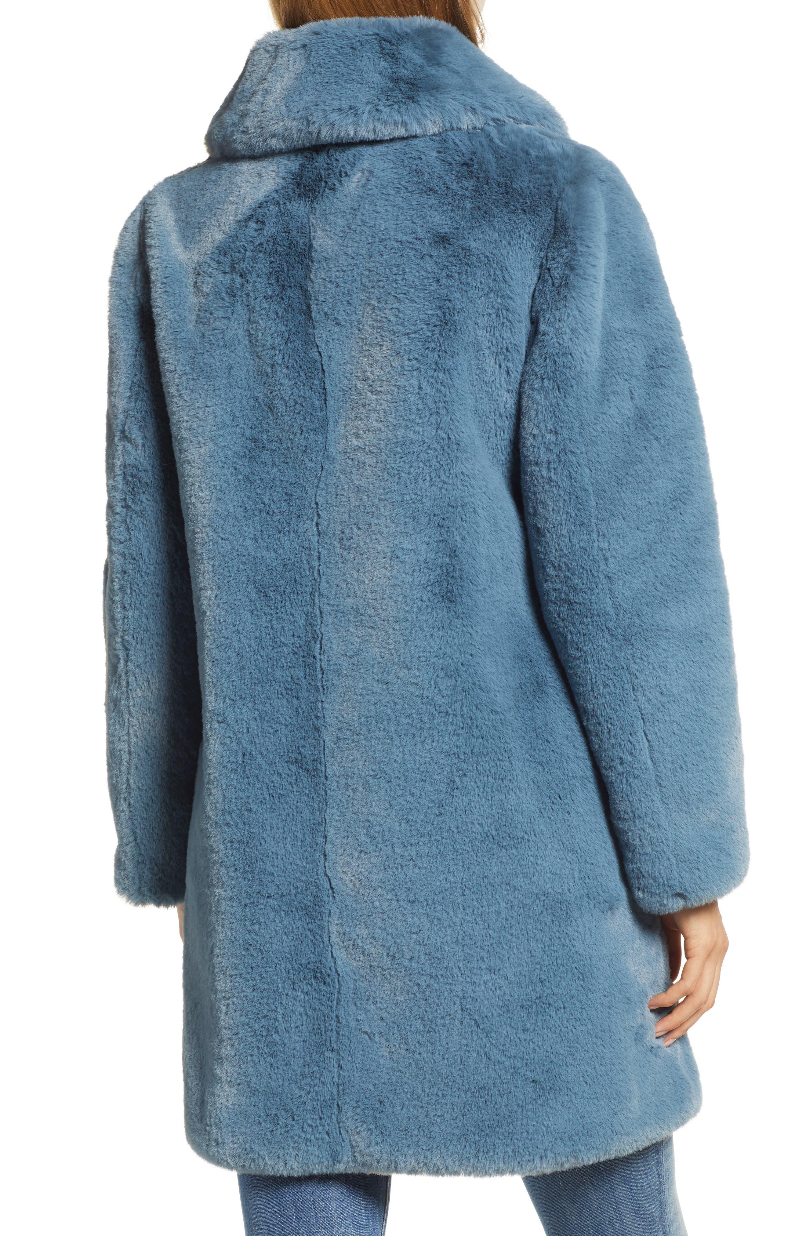 Faux Fur Coat,                             Alternate thumbnail 2, color,                             250