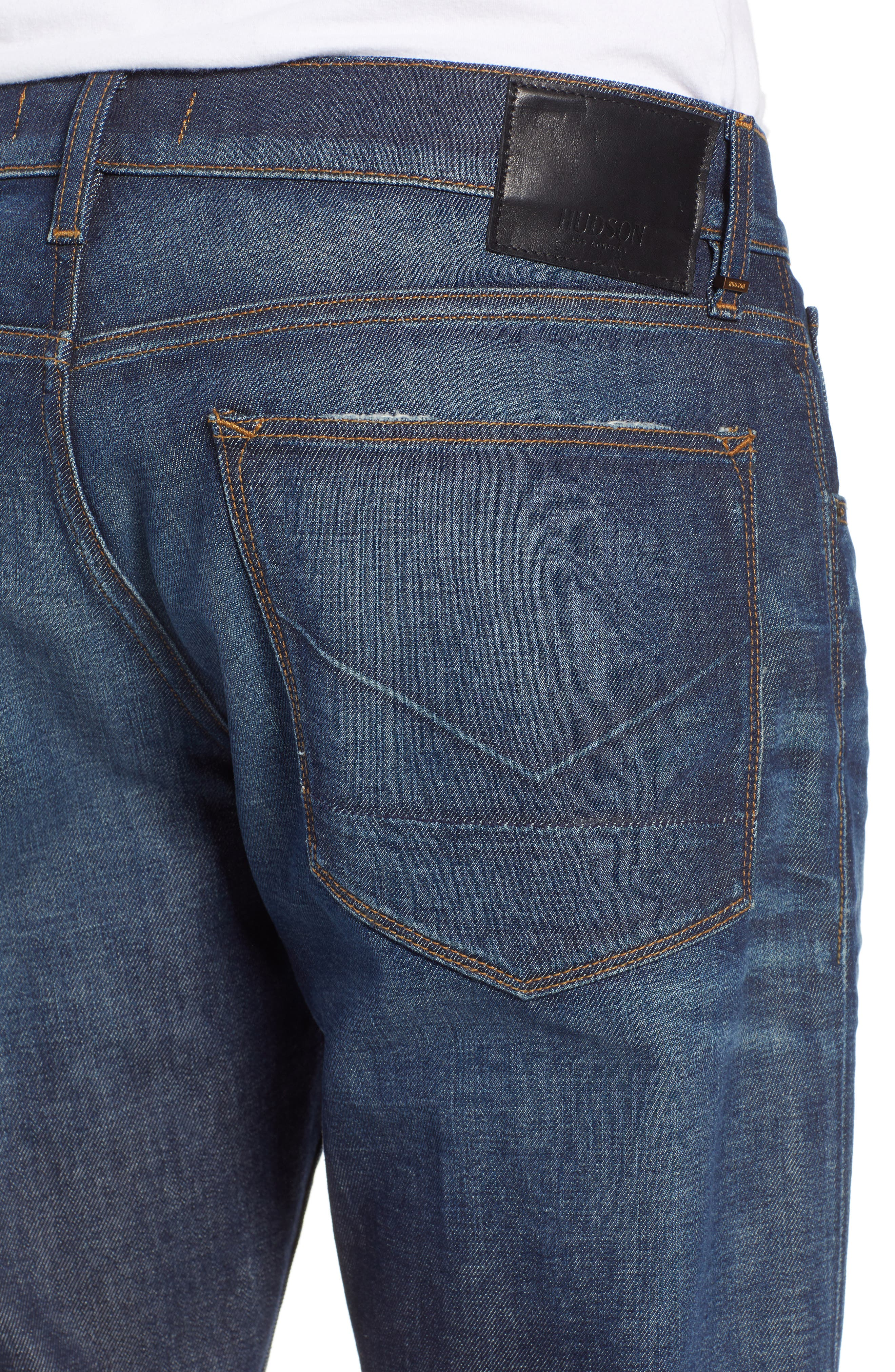 Byron Slim Straight Fit Jeans,                             Alternate thumbnail 4, color,                             ALBANY