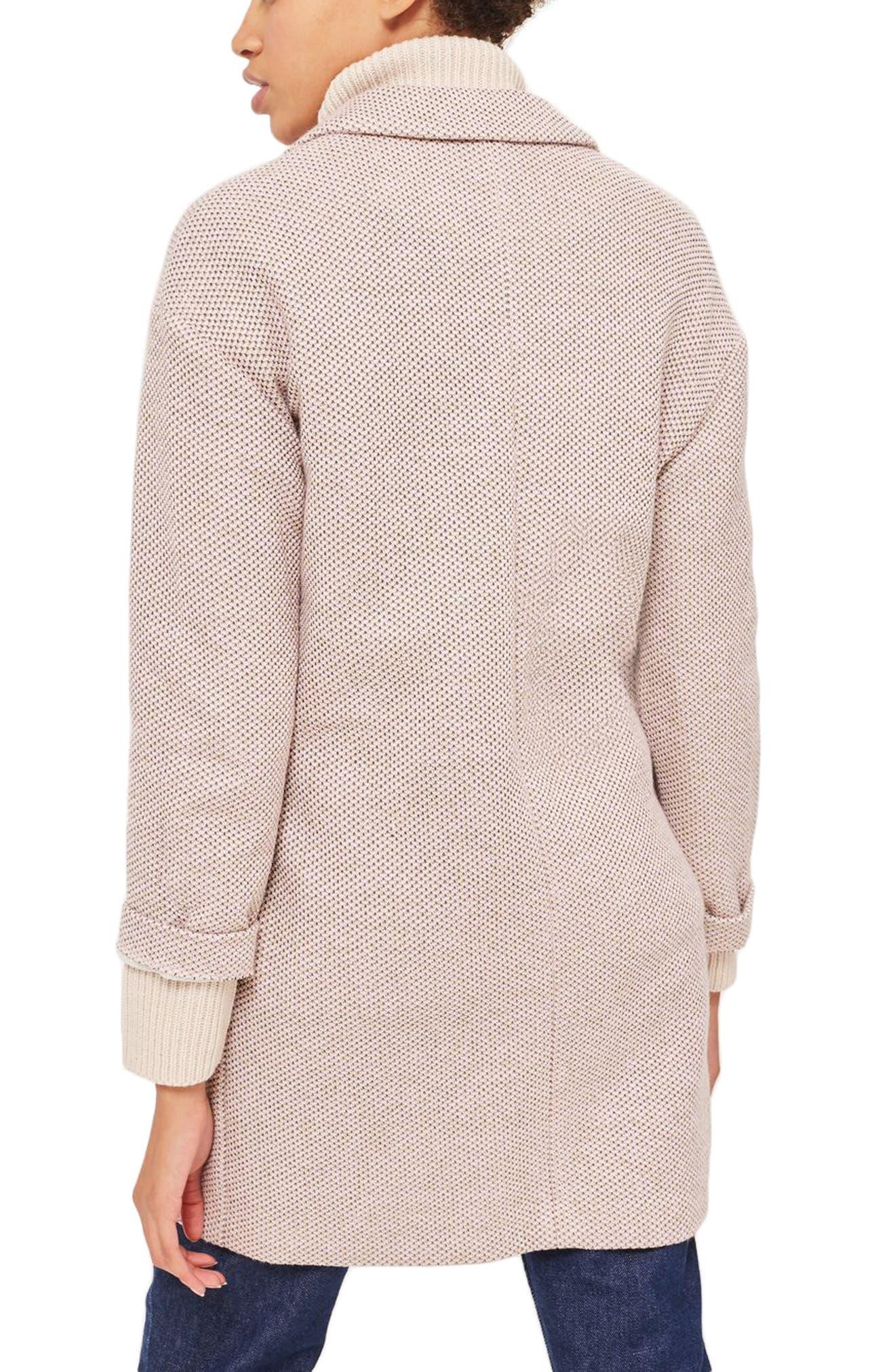 Textured Knit Coat,                             Alternate thumbnail 2, color,                             250