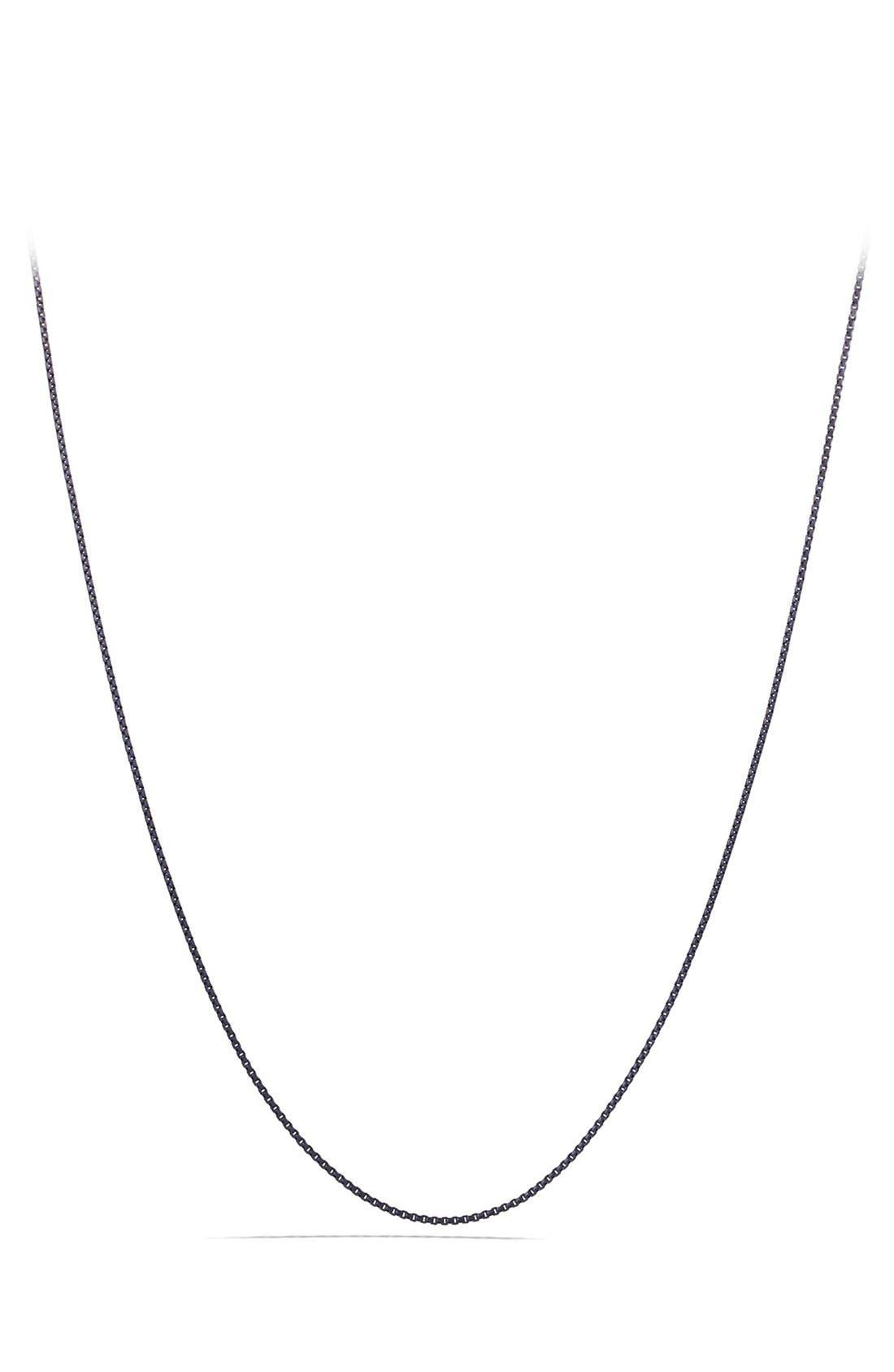 'Chain' Box Chain Necklace,                         Main,                         color, SILVER