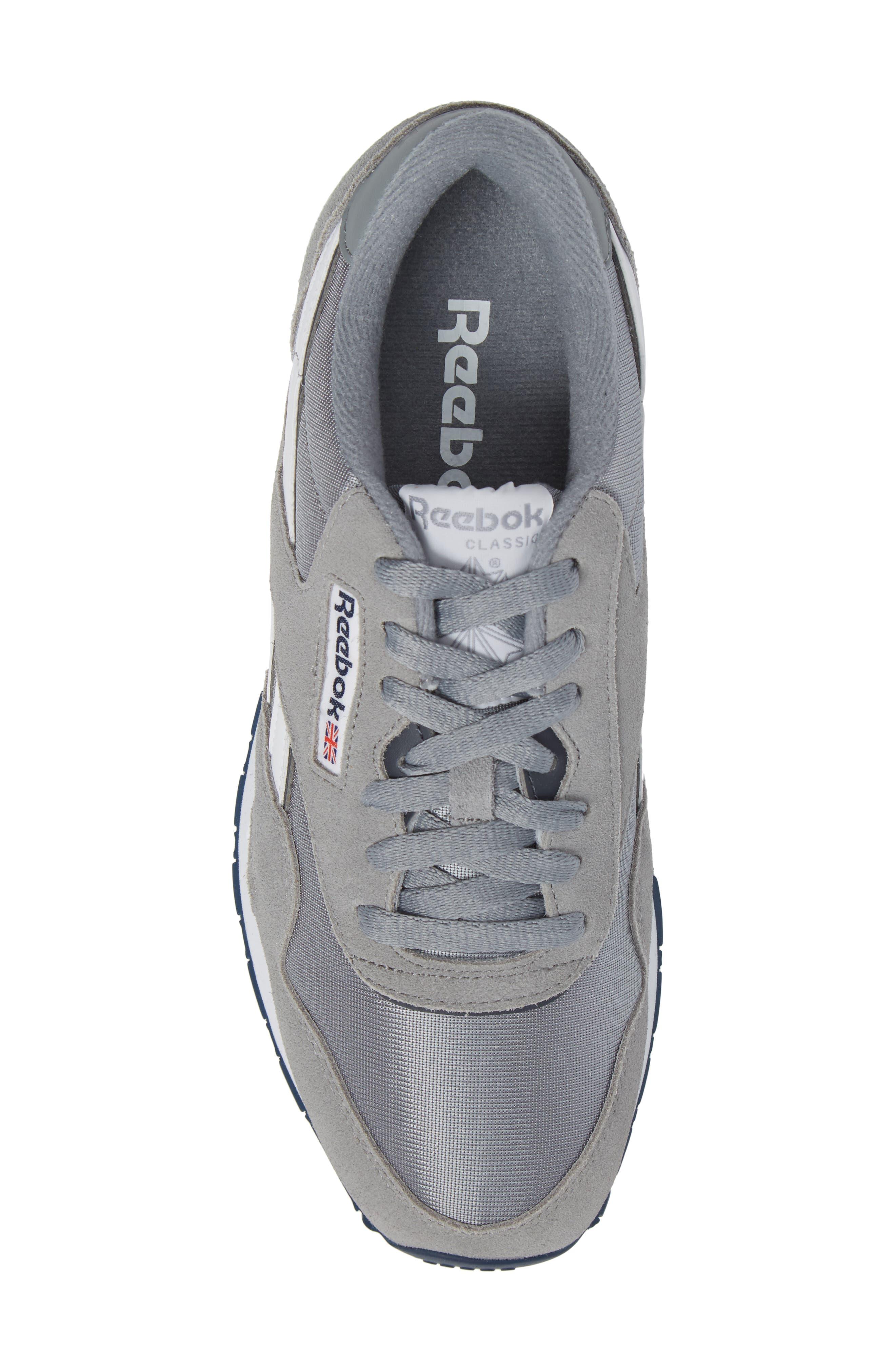 Classic Nylon Sneaker,                             Alternate thumbnail 5, color,                             PLATINUM/ JET BLUE