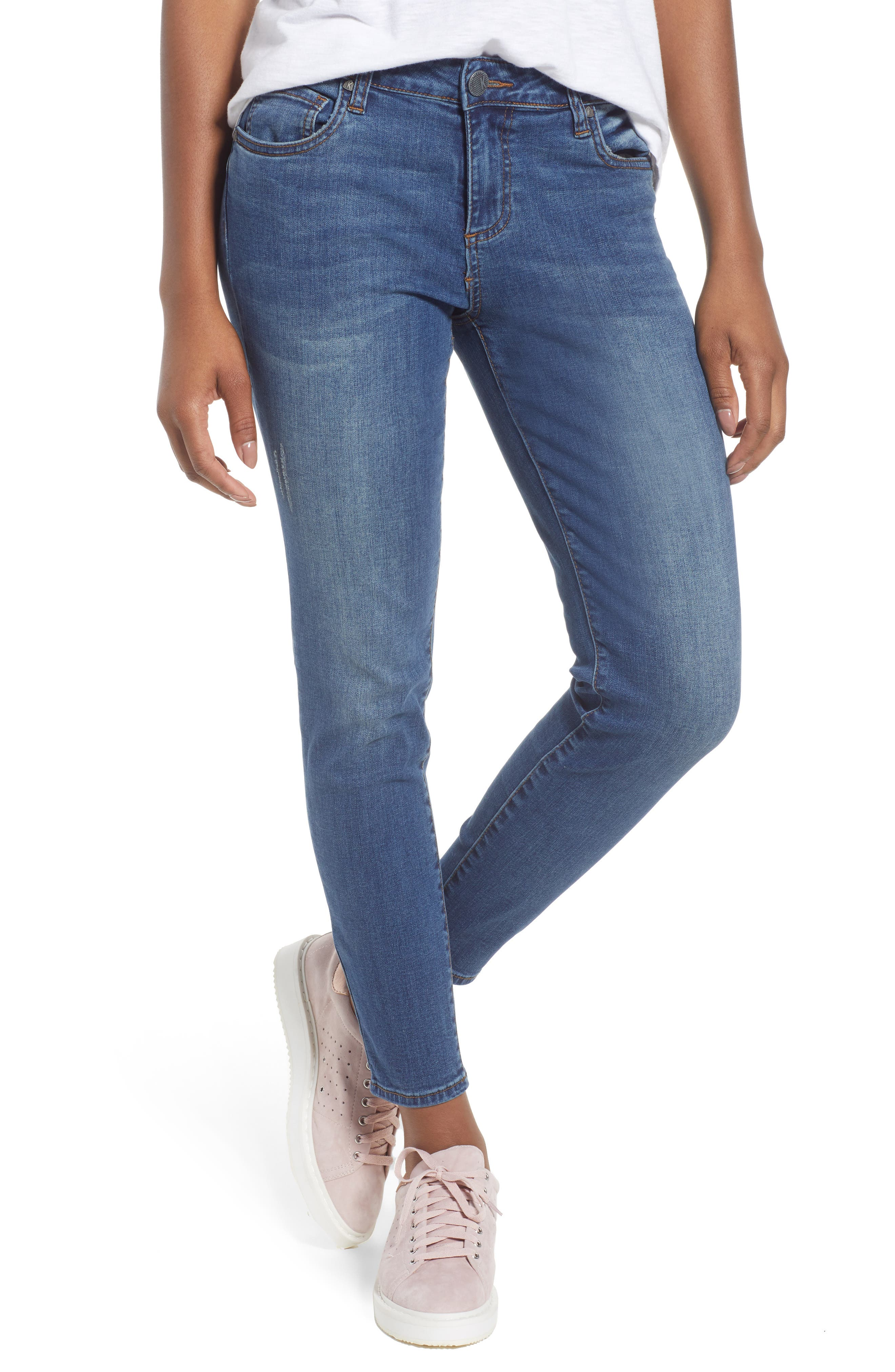 Donna Skinny Ankle Jeans,                             Main thumbnail 1, color,                             460