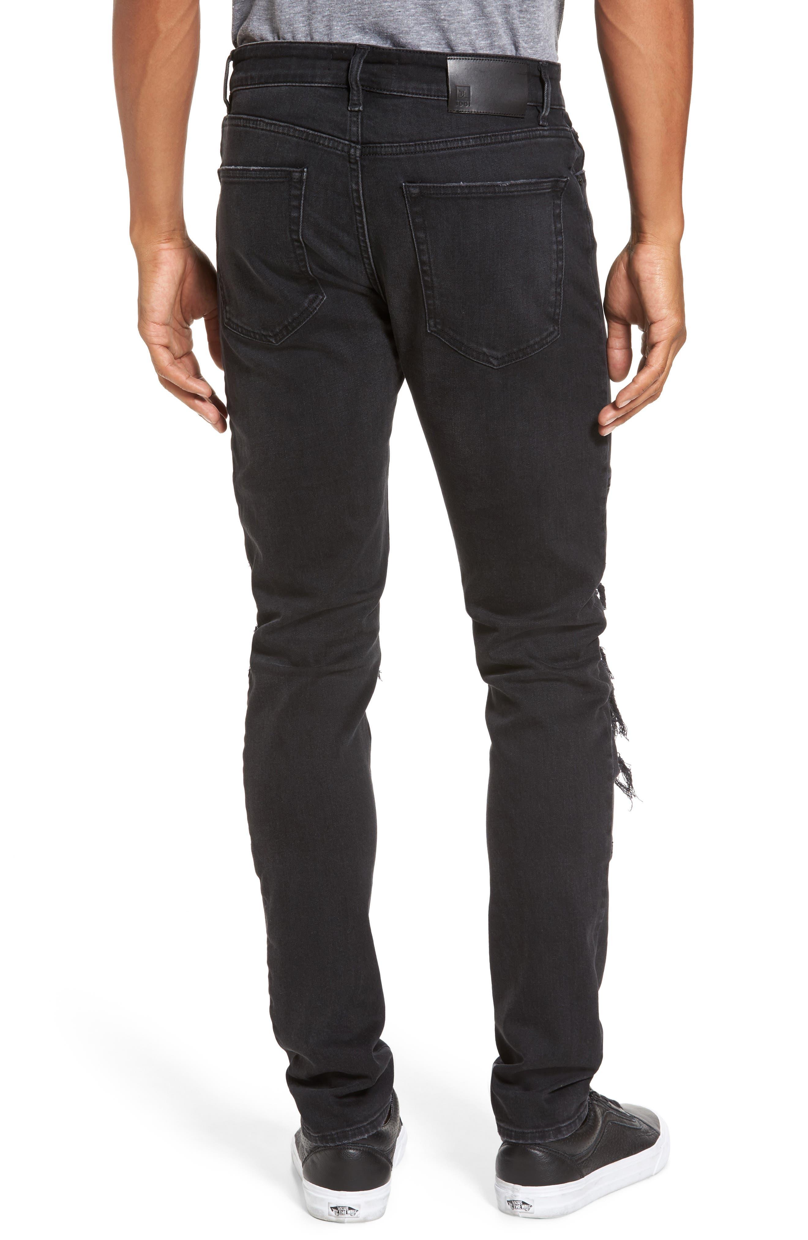 Hunter Skinny Jeans,                             Alternate thumbnail 2, color,                             001