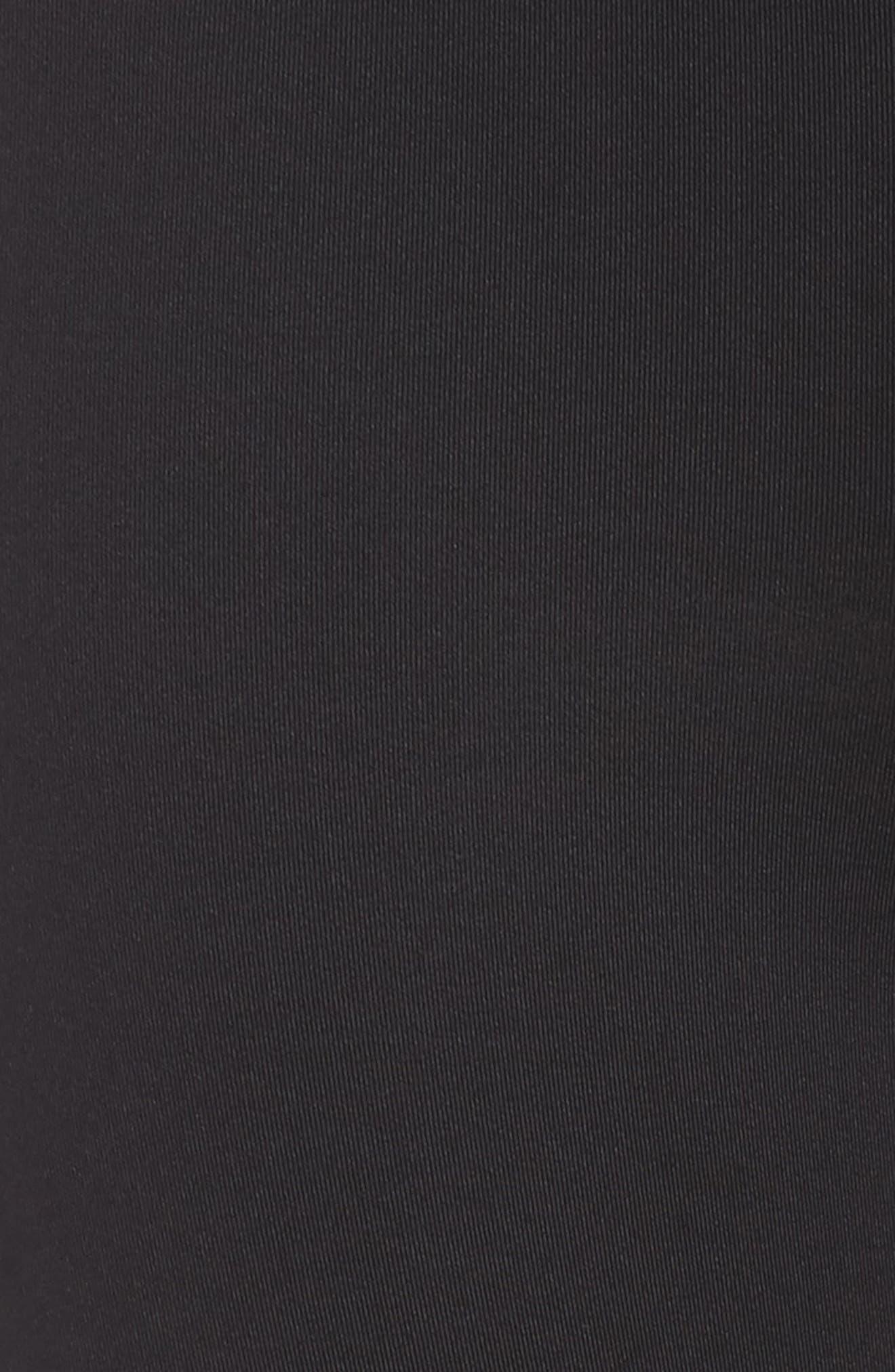 Pro Training Capri Leggings,                             Alternate thumbnail 6, color,                             BLACK/ BLACK/ WHITE