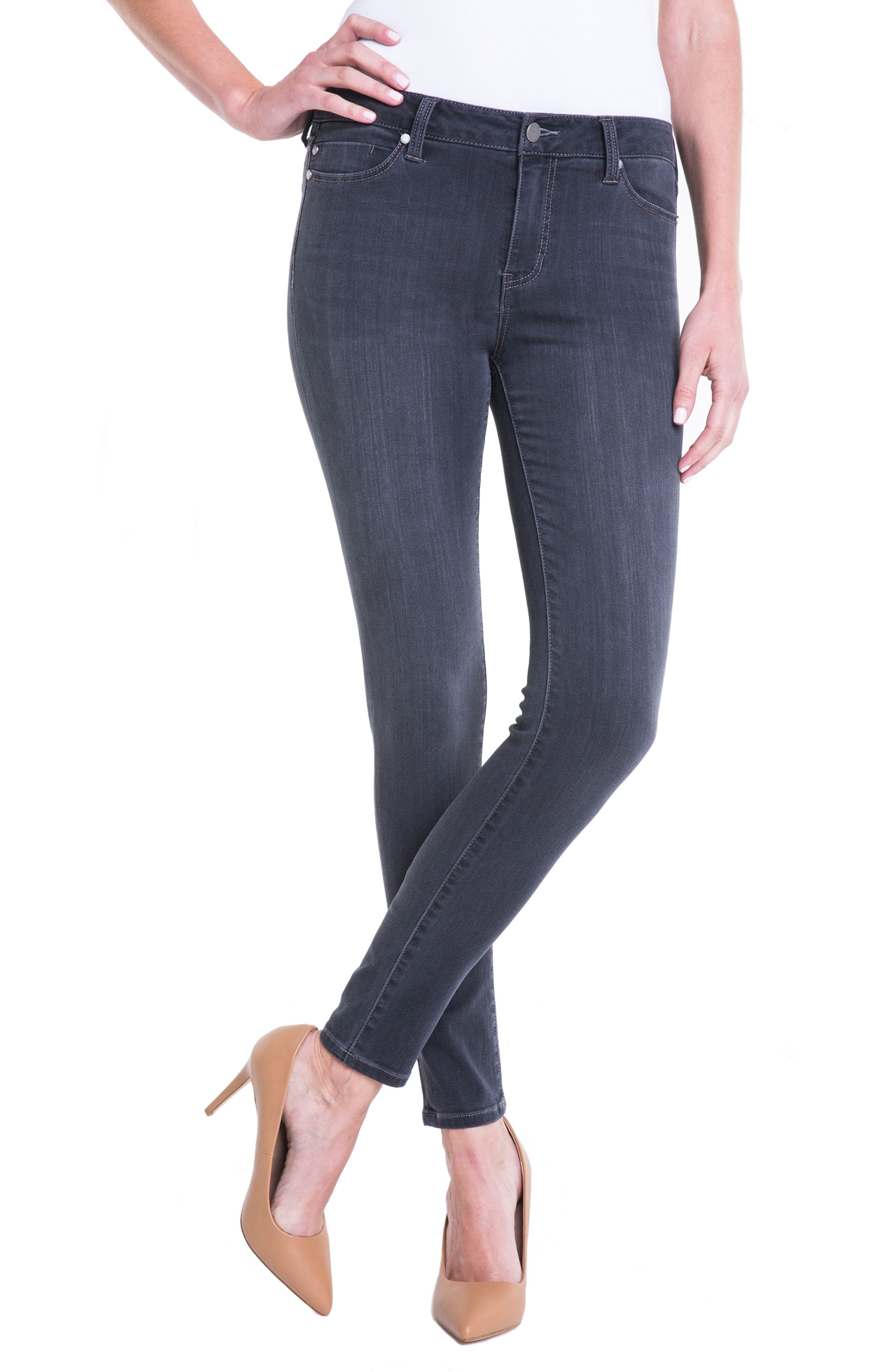 Abby Stretch Skinny Jeans,                             Alternate thumbnail 5, color,                             024