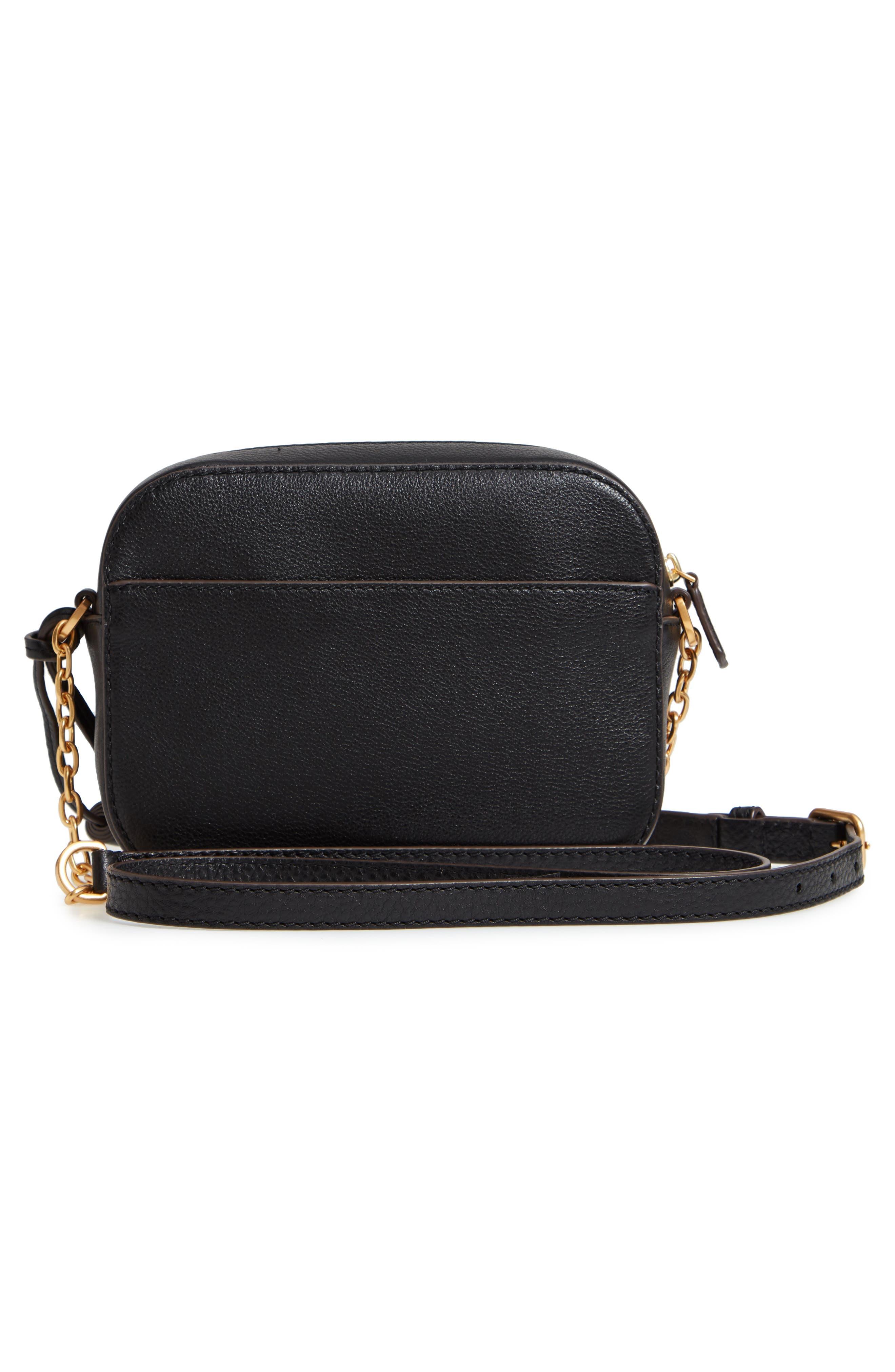 McGraw Leather Camera Bag,                             Alternate thumbnail 3, color,                             BLACK