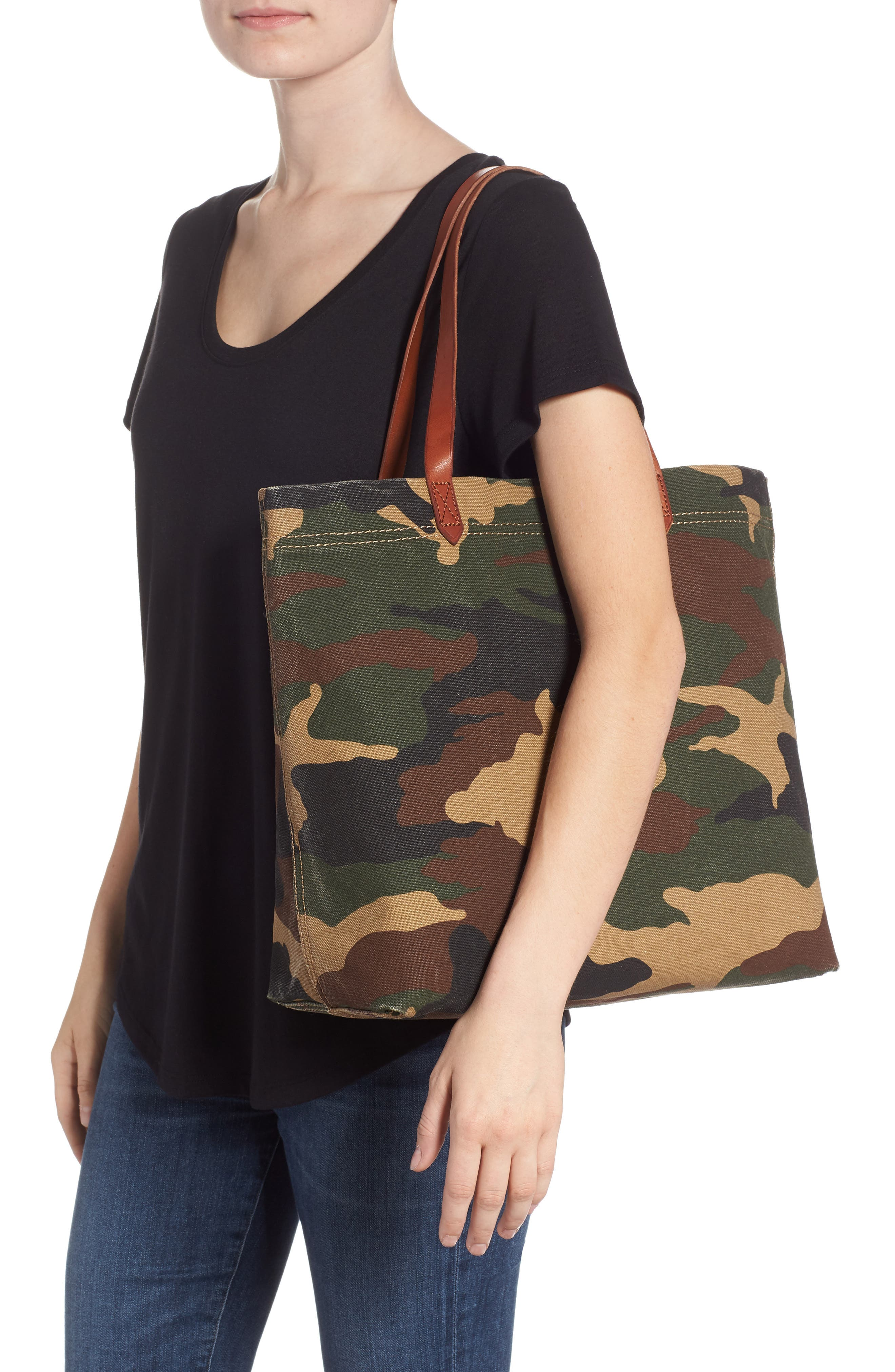 The Canvas Transport Tote in Cottontail Camo,                             Alternate thumbnail 2, color,